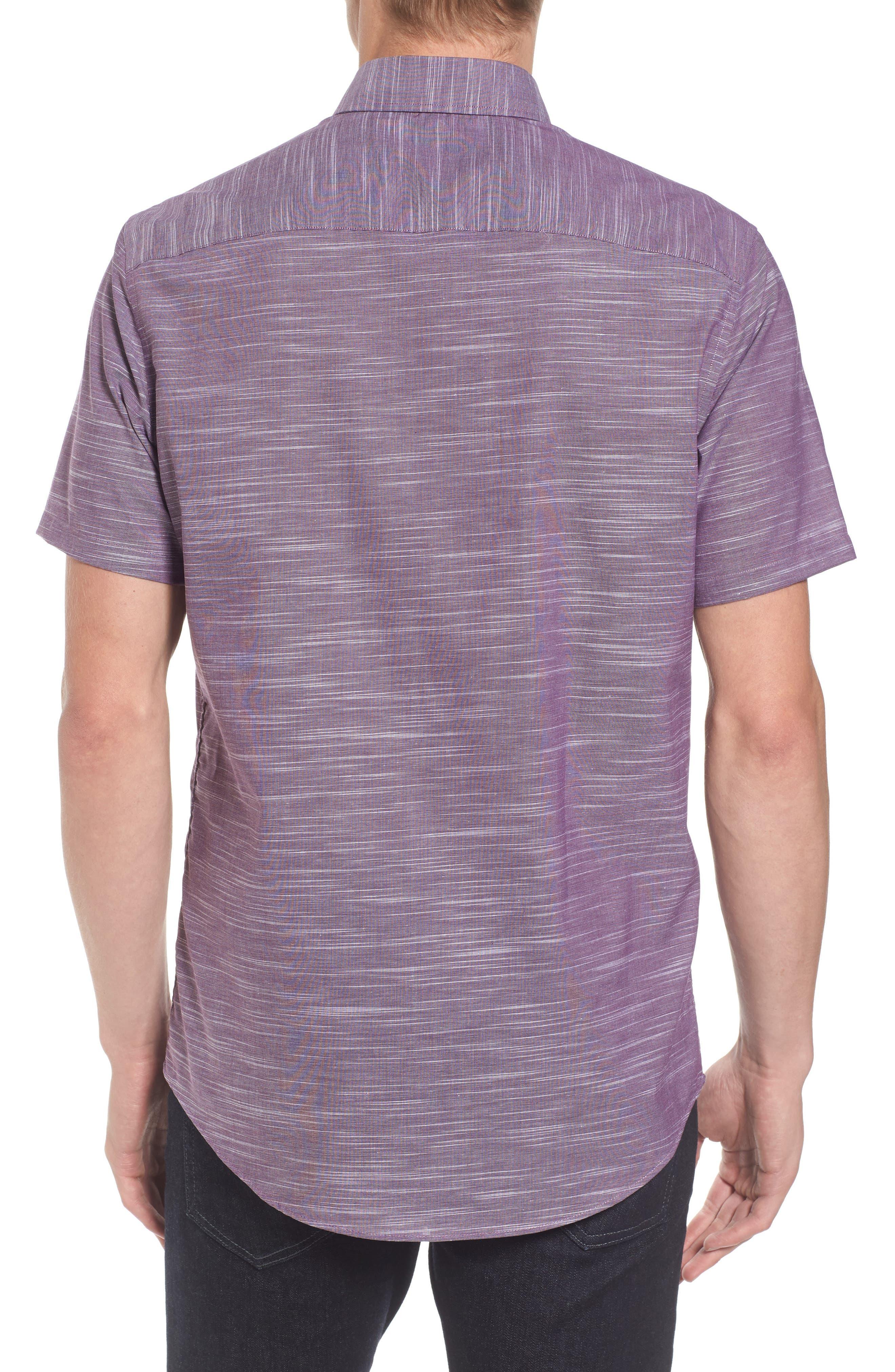 Calilbrate Slim Fit Slub Woven Shirt,                             Alternate thumbnail 6, color,