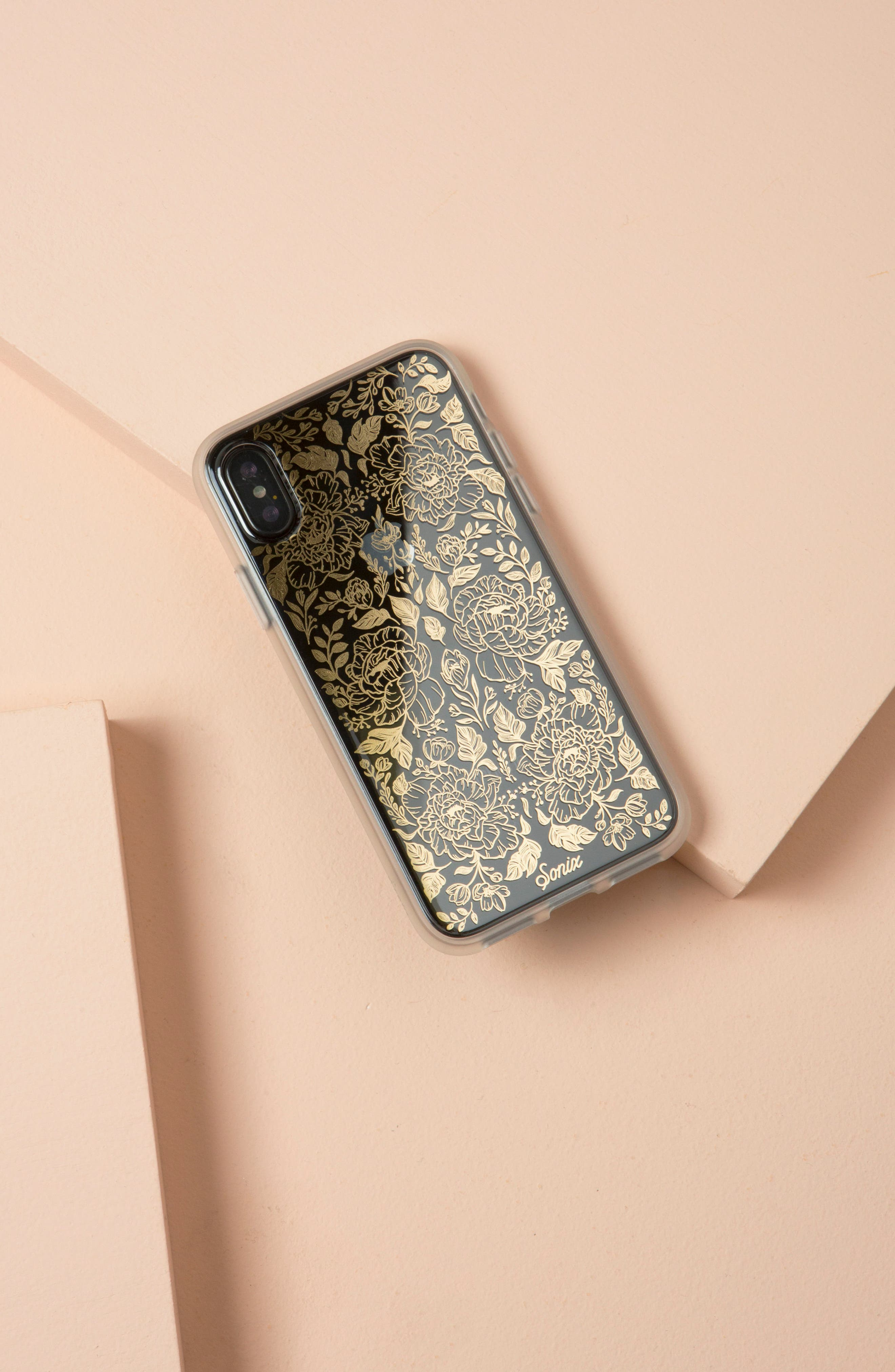 Secret Garden Print iPhone X Case,                             Alternate thumbnail 4, color,                             710