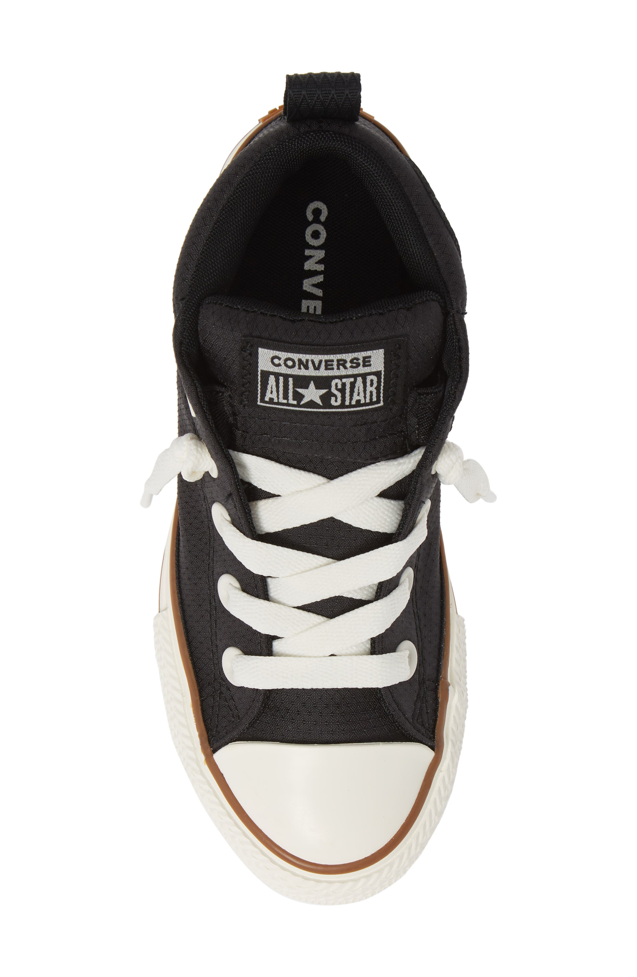 Chuck Taylor<sup>®</sup> All Star<sup>®</sup> Street Mid Top Sneaker,                             Alternate thumbnail 5, color,                             BLACK/ GUM/ EGRET
