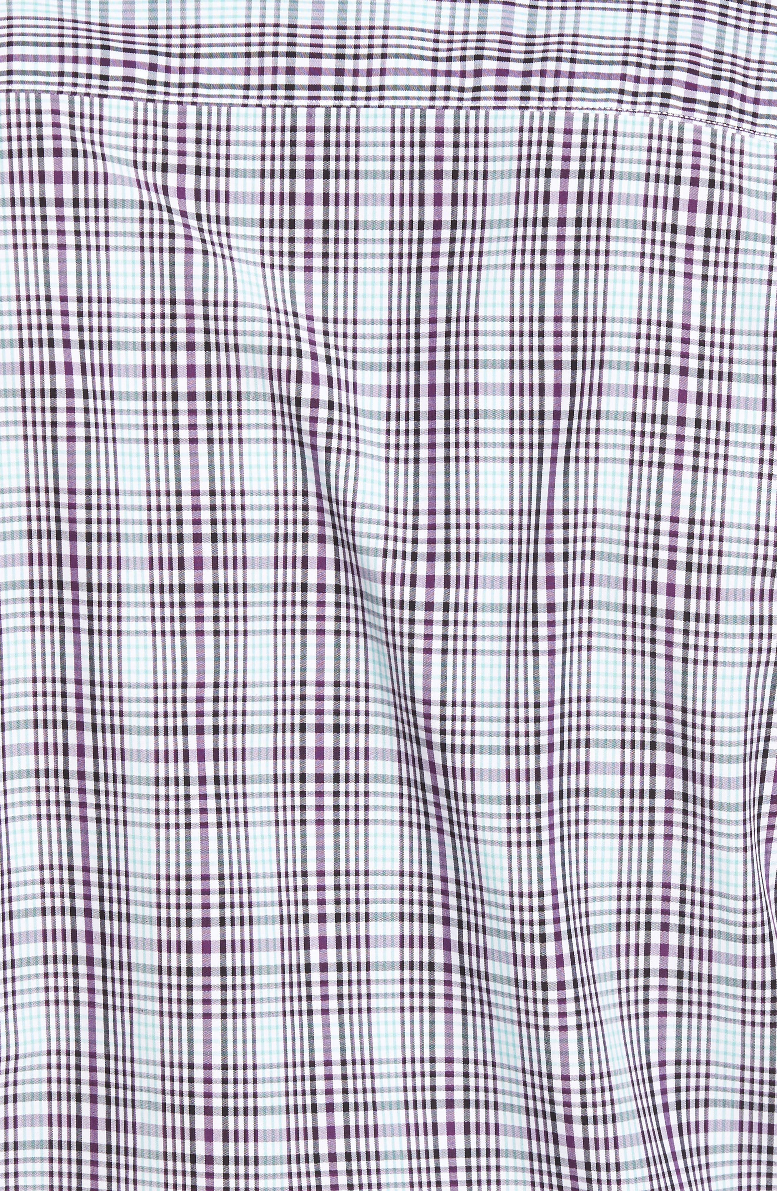 Hoyt Plaid Non-Iron Sport Shirt,                             Alternate thumbnail 5, color,