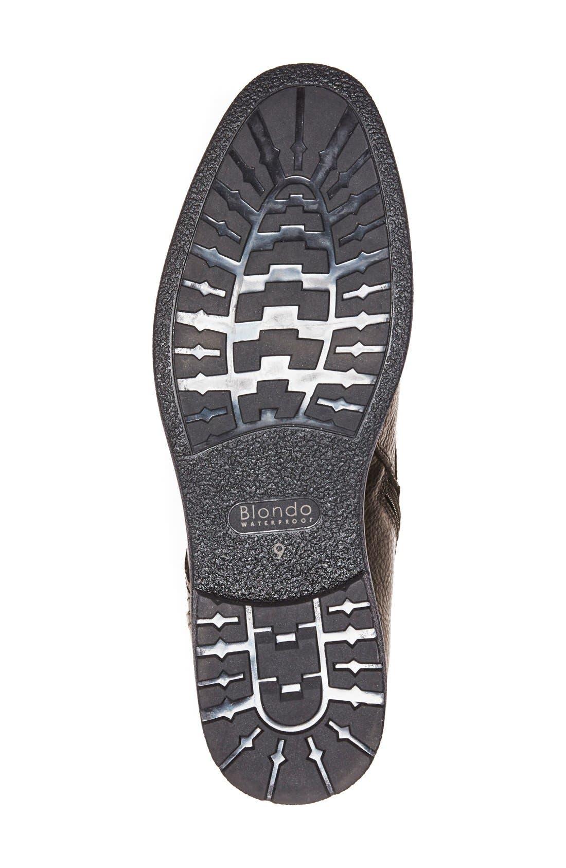 'Backoff' Waterproof Plain Toe Boot,                             Alternate thumbnail 4, color,                             200