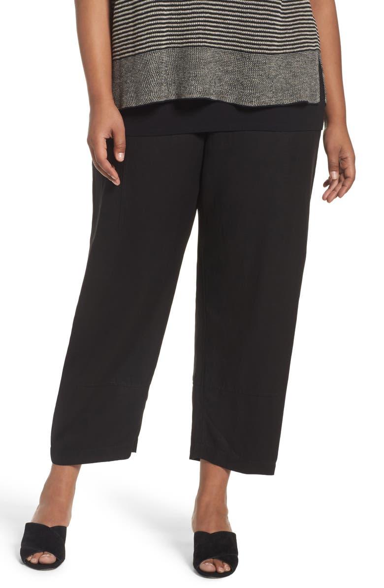58006d40f1621 Eileen Fisher Lantern Ankle Pants (Plus Size)
