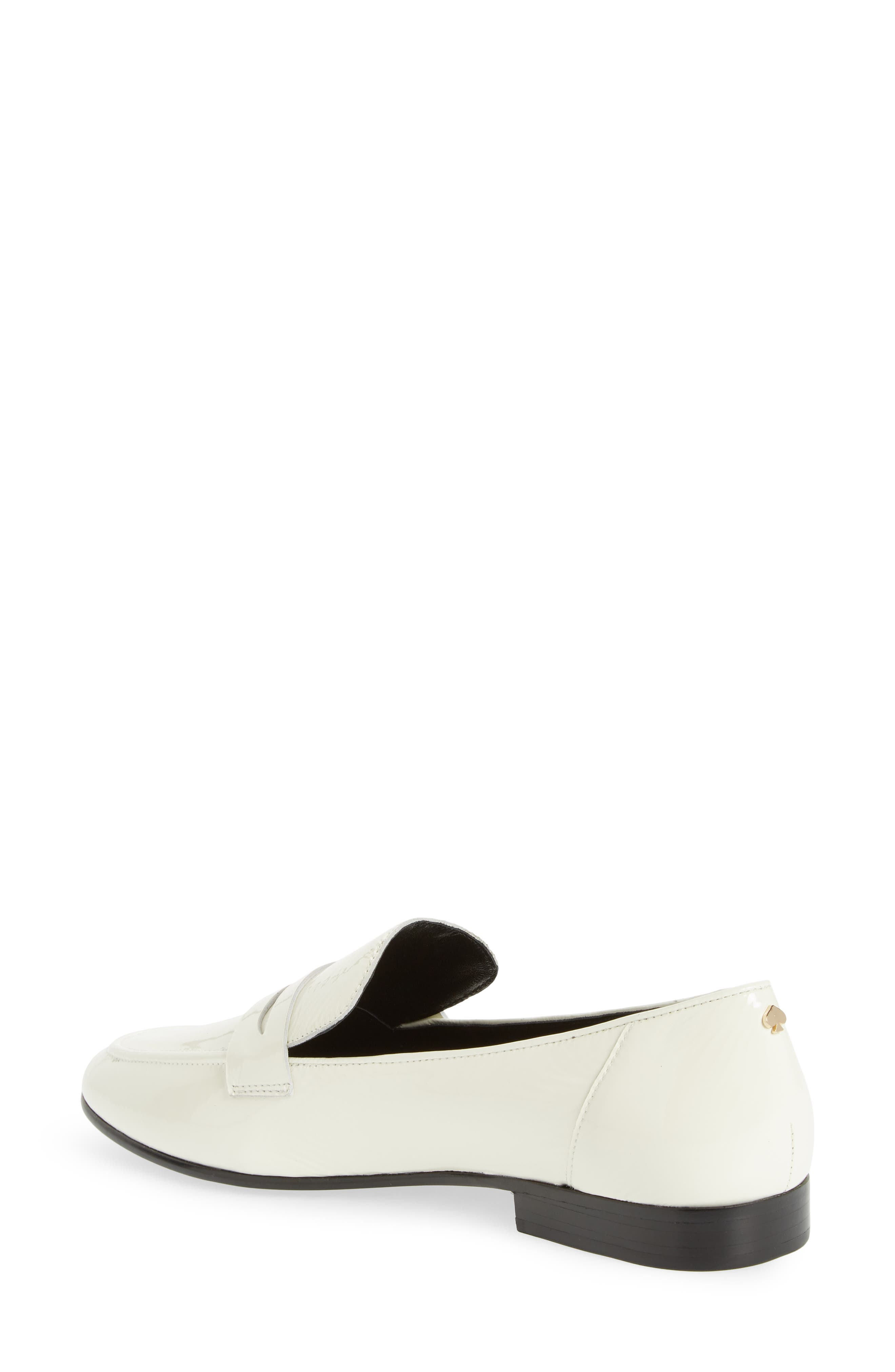 genevieve loafer,                             Alternate thumbnail 2, color,                             OFF WHITE CRINKLE PAT