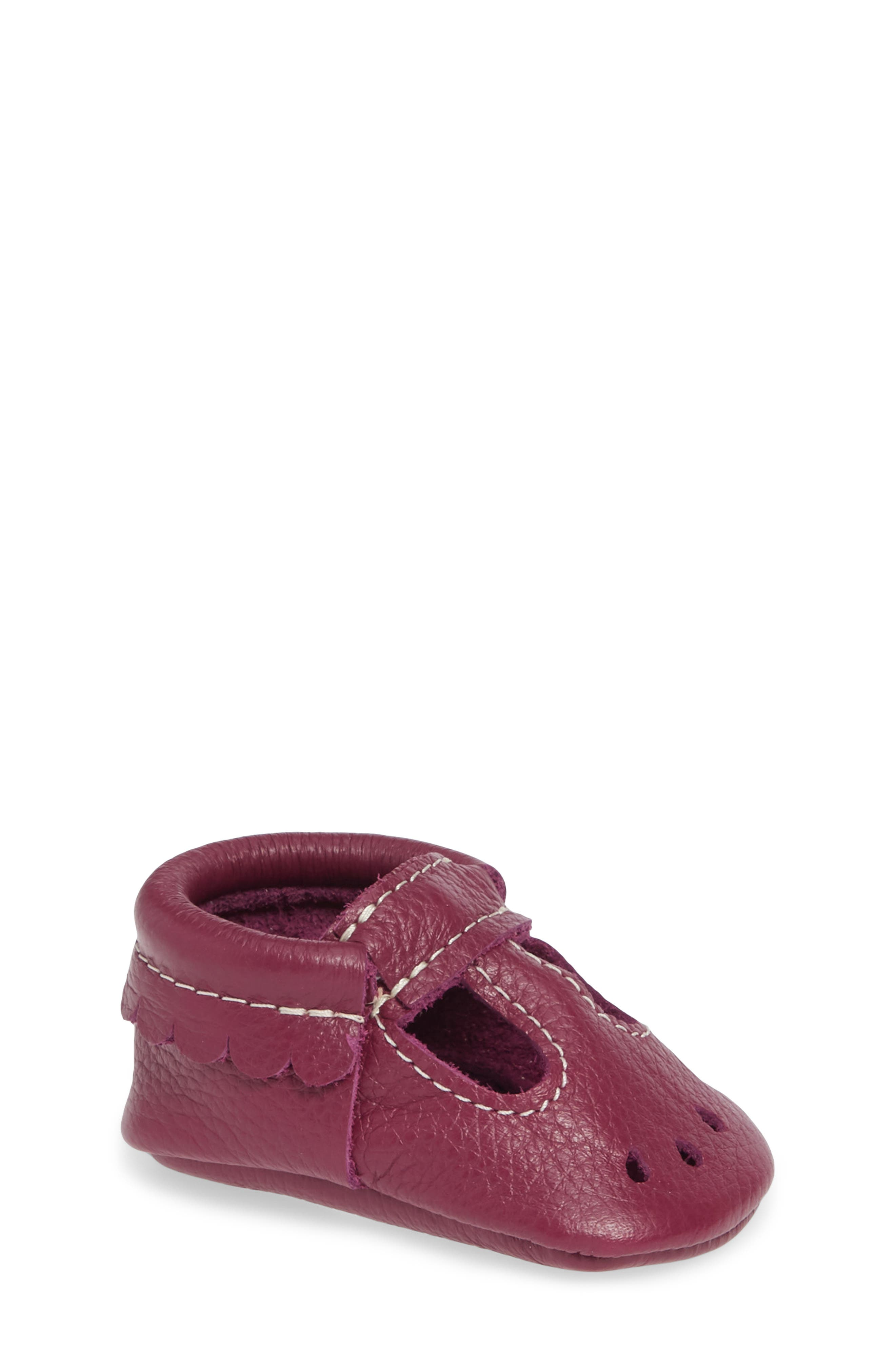 2fe3e786e61cf8 Toddler Girls Freshly Picked Perforated Mary Jane Moccasin Size 5 M Purple