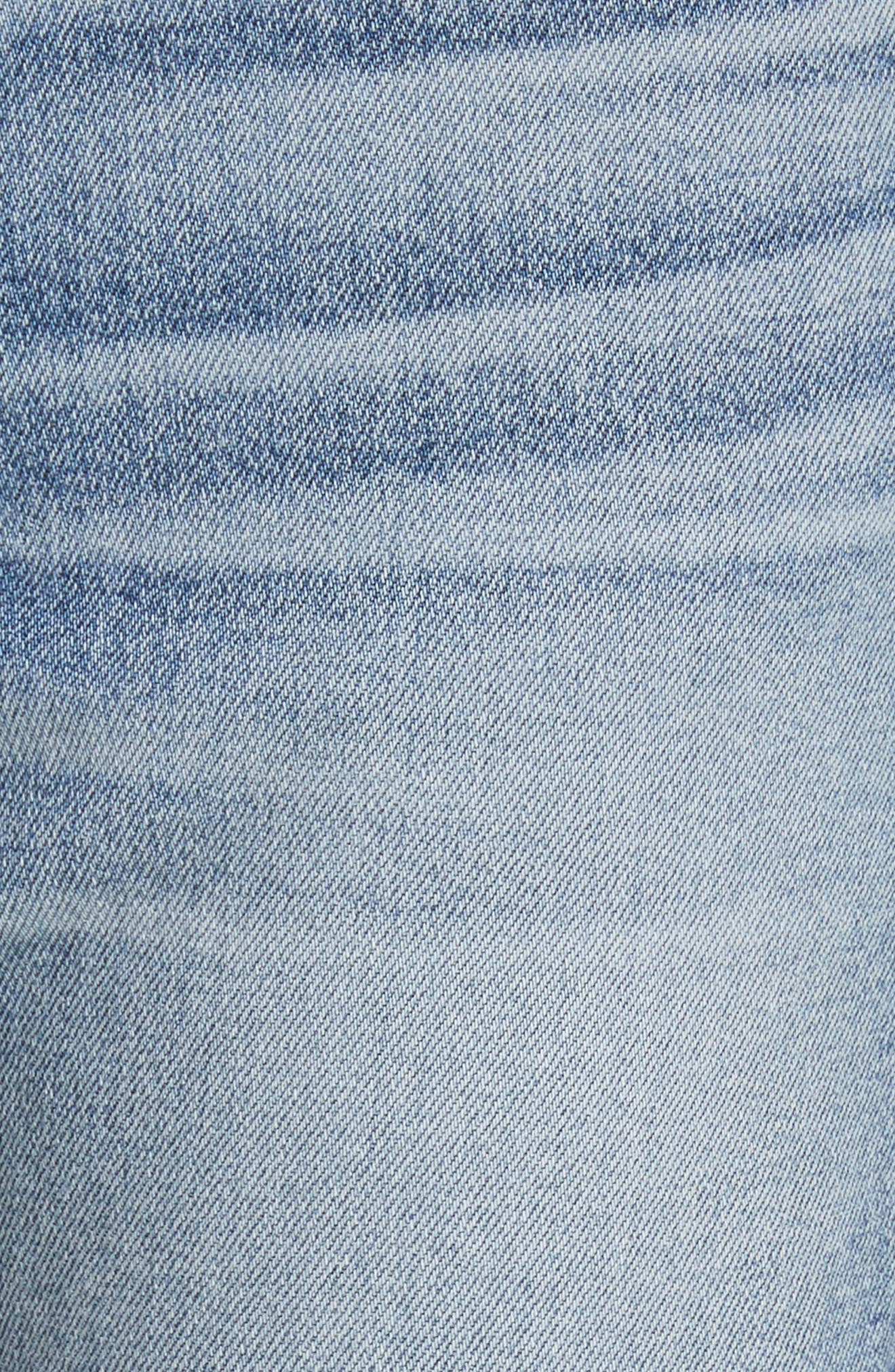 W3 Higher Ground Side Split Ankle Straight Leg Jeans,                             Alternate thumbnail 5, color,                             428