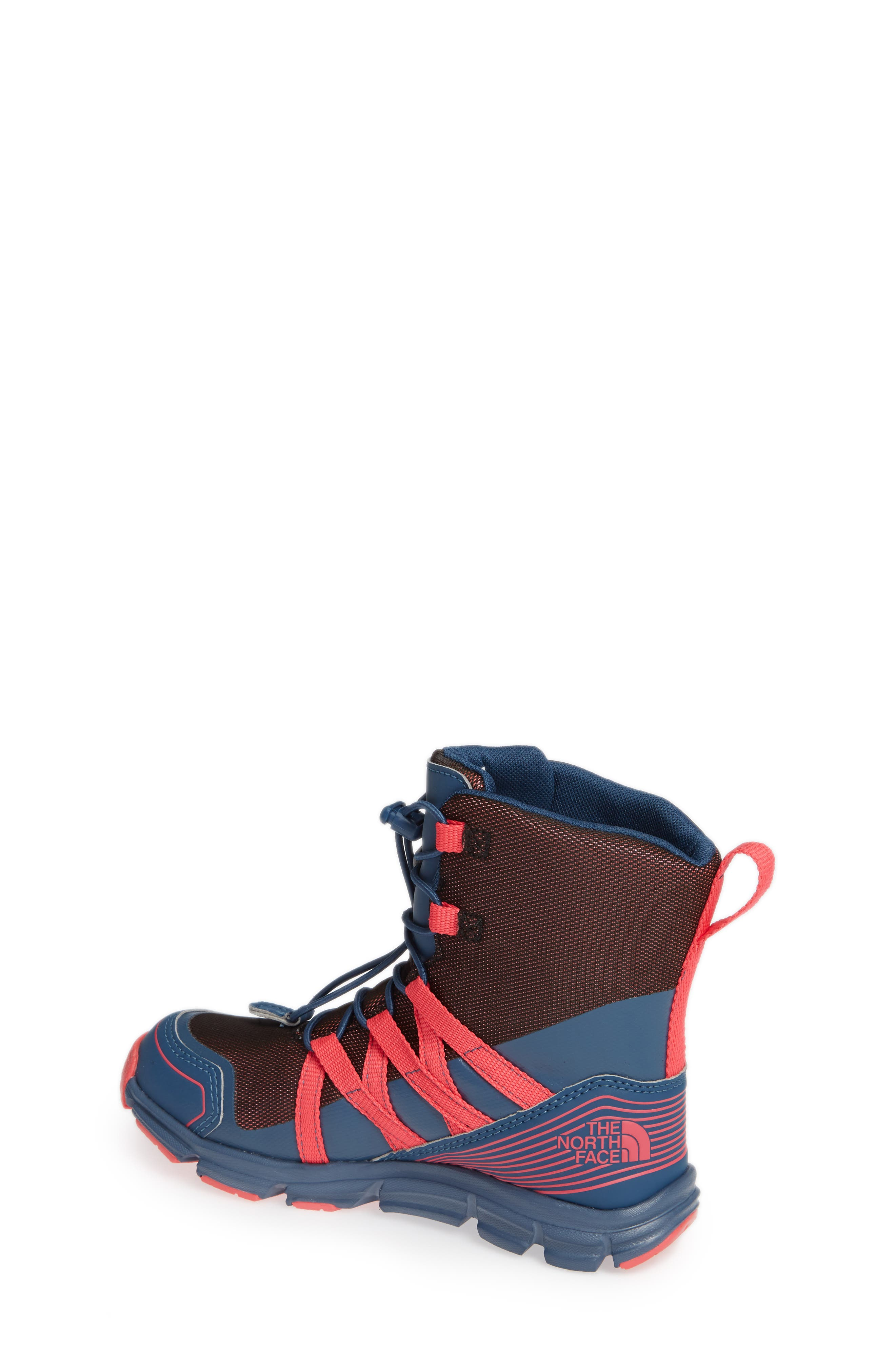 Junior Winter Sneaker Waterproof Insulated Boot,                             Alternate thumbnail 2, color,                             BLUE WING TEAL/ ATOMIC PINK