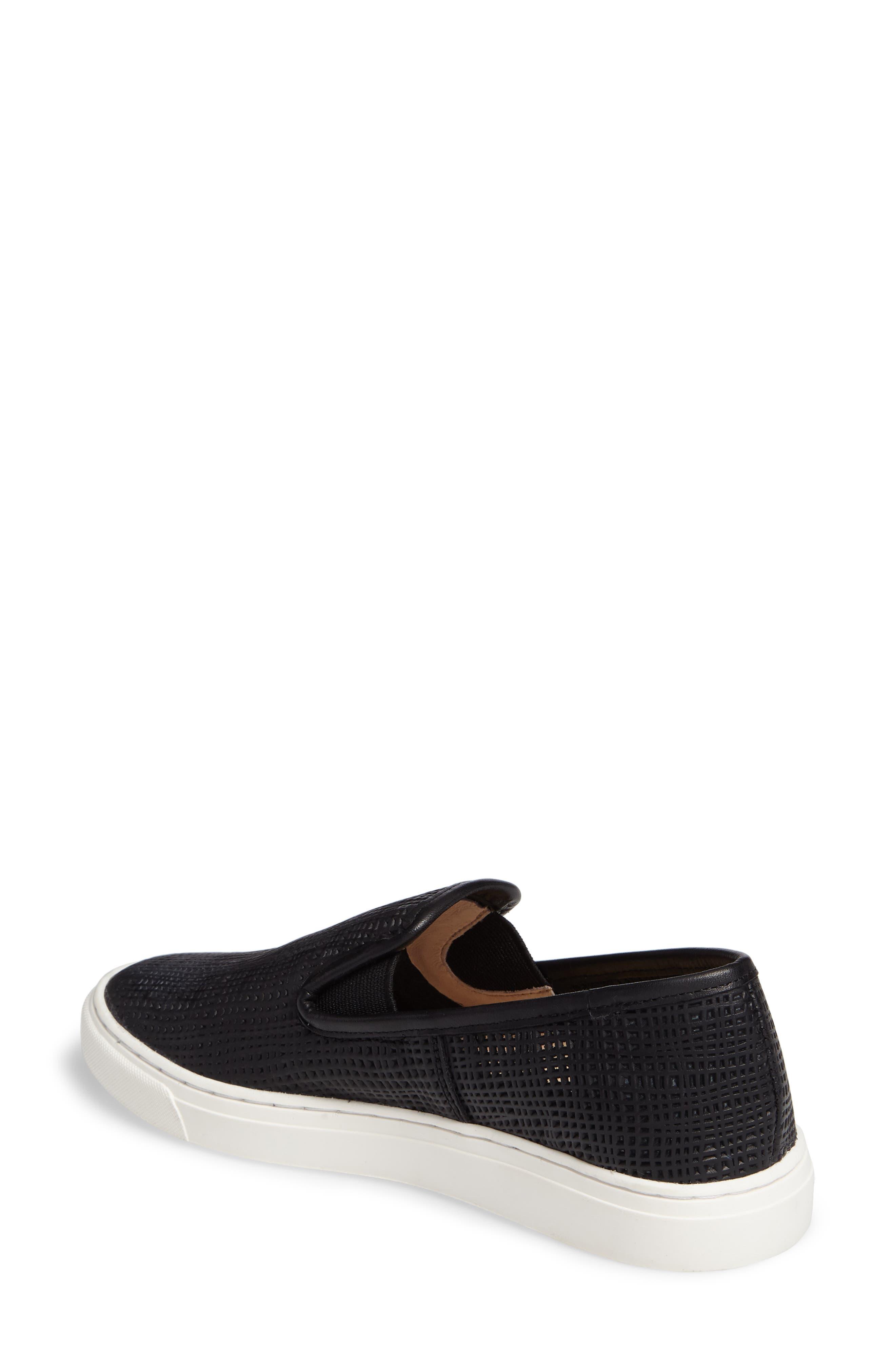 Becker Perforated Slip-On Sneaker,                             Alternate thumbnail 2, color,                             001