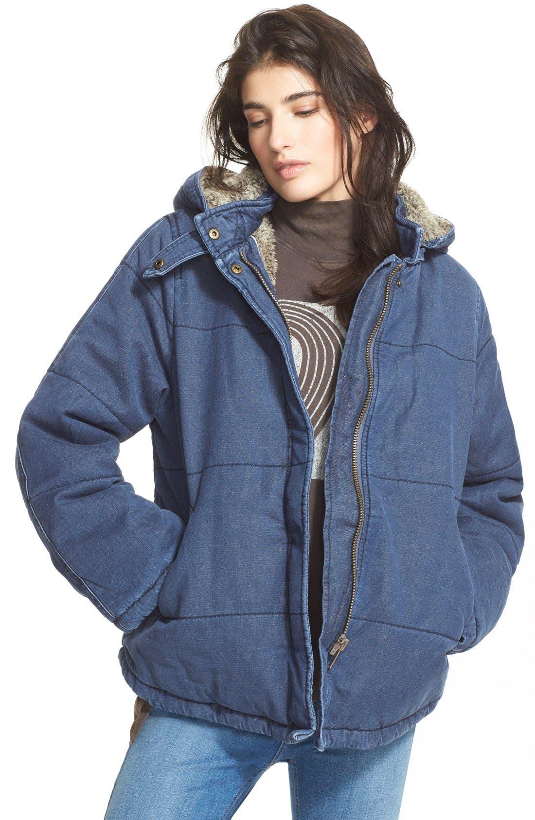 Quilted Denim Jacket, Main, color, 407