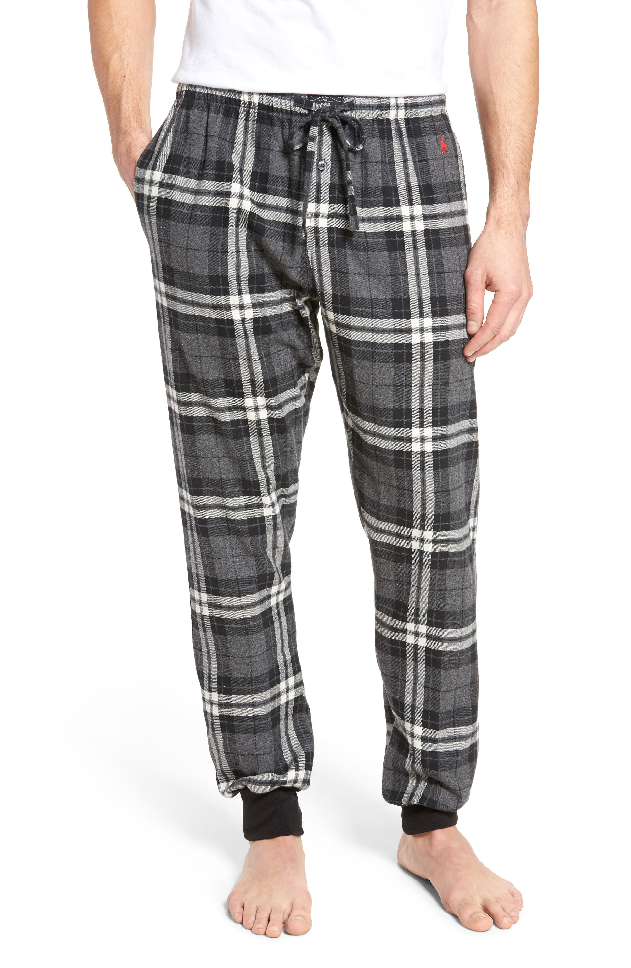 Flannel Pajama Jogger Pants,                             Main thumbnail 1, color,                             022