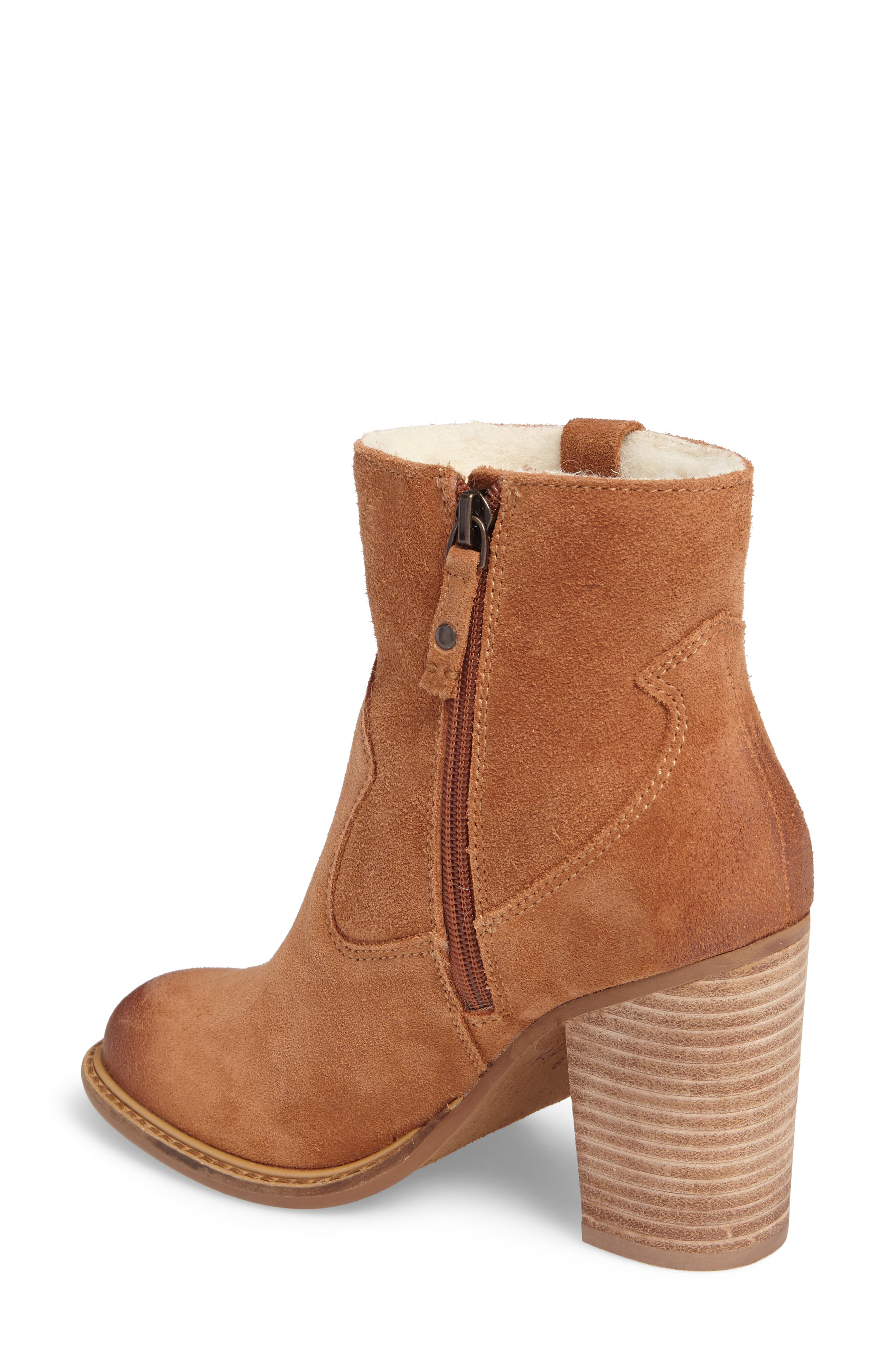 Legion Bootie with Faux Shearling Lining,                             Alternate thumbnail 4, color,