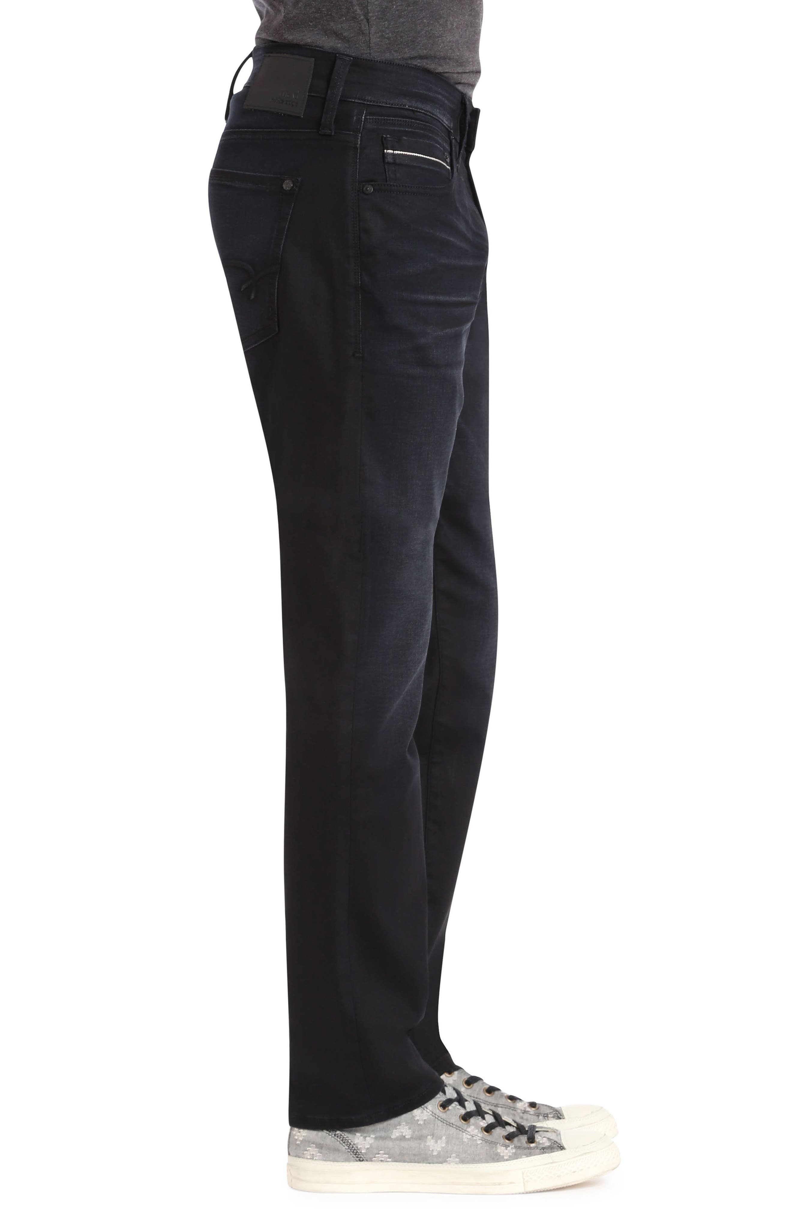 Marcus Slim Straight Leg Jeans,                             Alternate thumbnail 3, color,                             DEEP BLUE WHITE EDGE