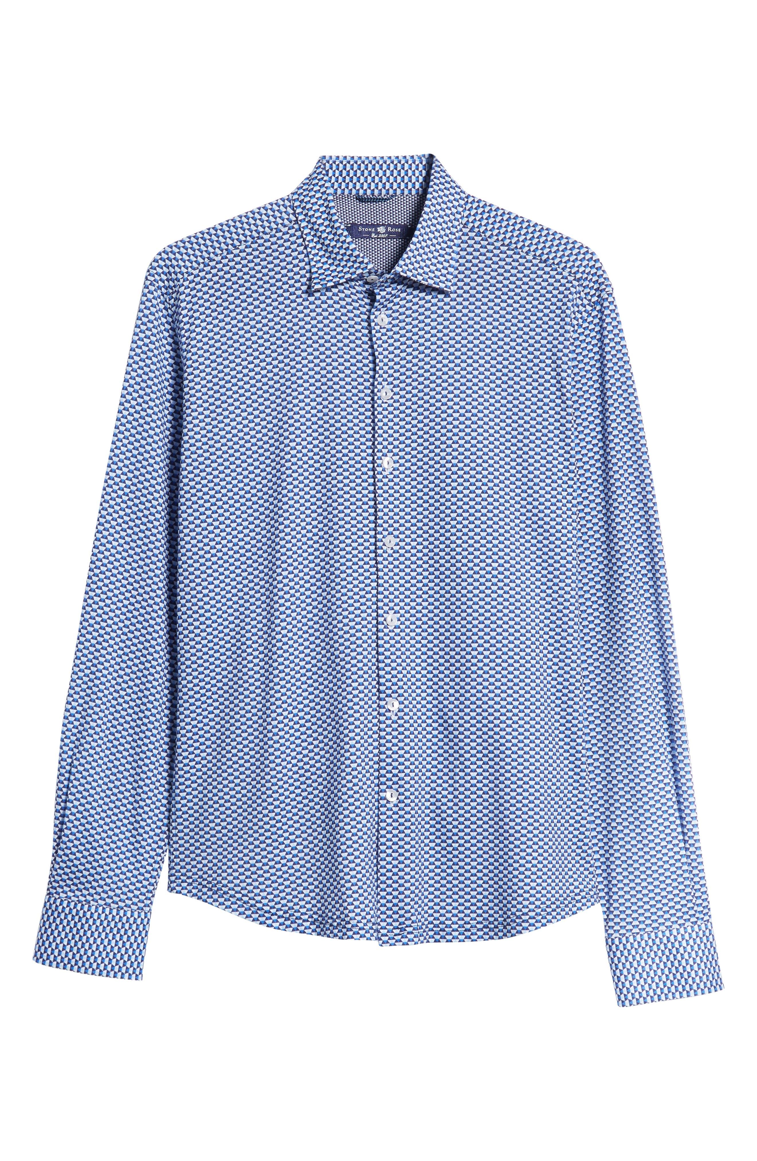 Trim Fit Knit Sport Shirt,                             Alternate thumbnail 5, color,                             WHITE