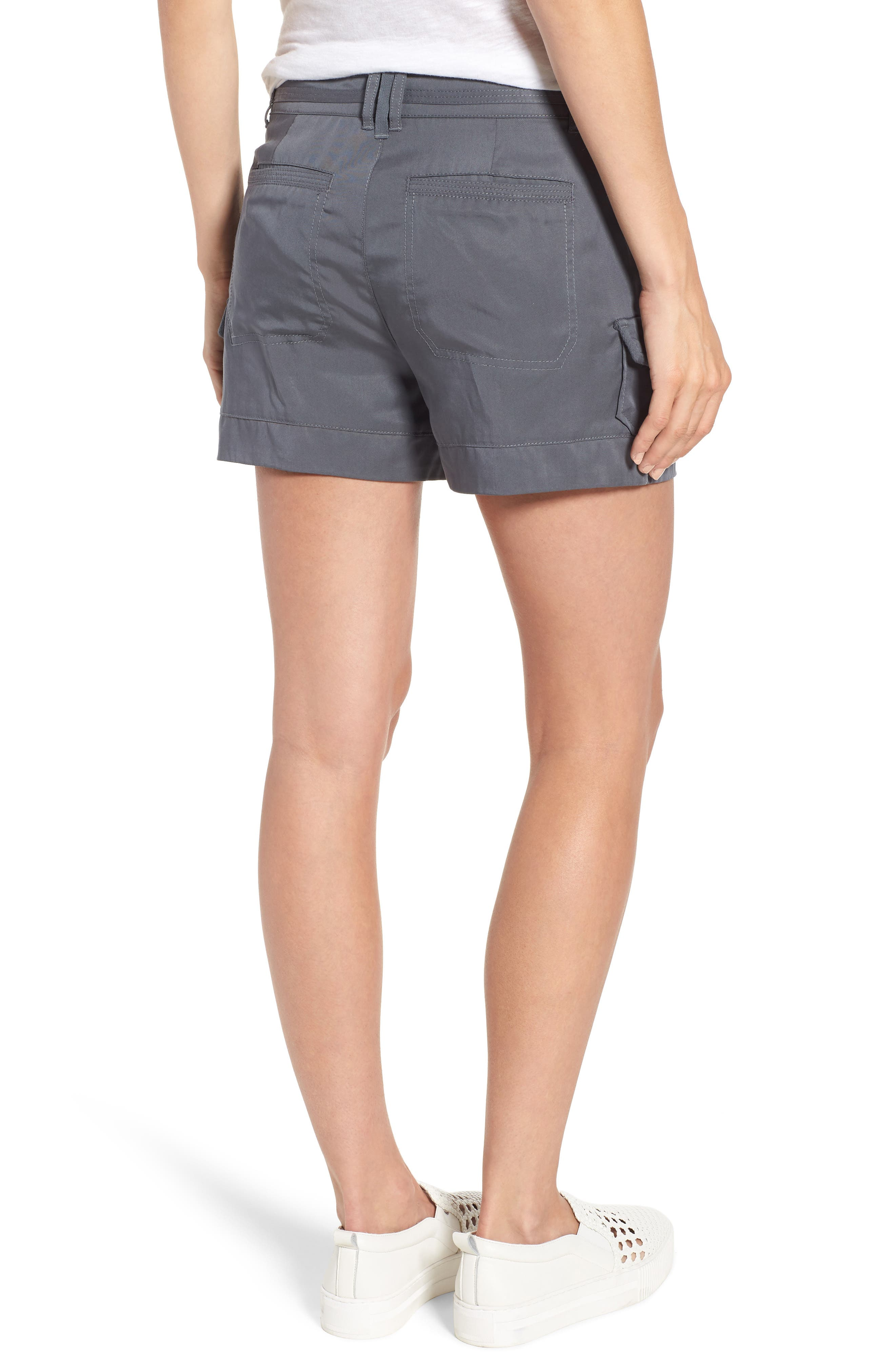High Rise Tencel Shorts,                             Alternate thumbnail 6, color,
