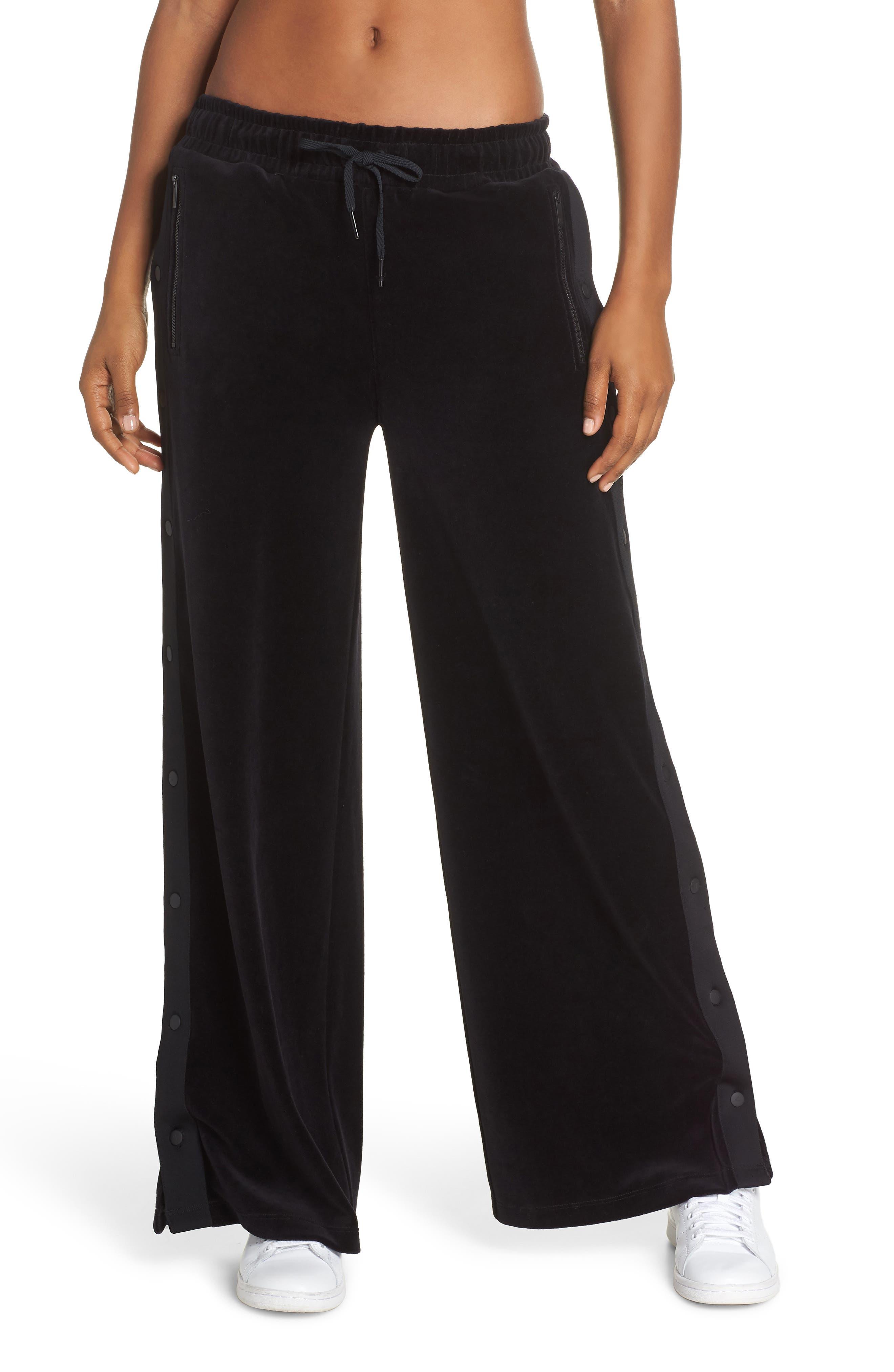 Liya Tear Away Pants,                         Main,                         color, BLACK