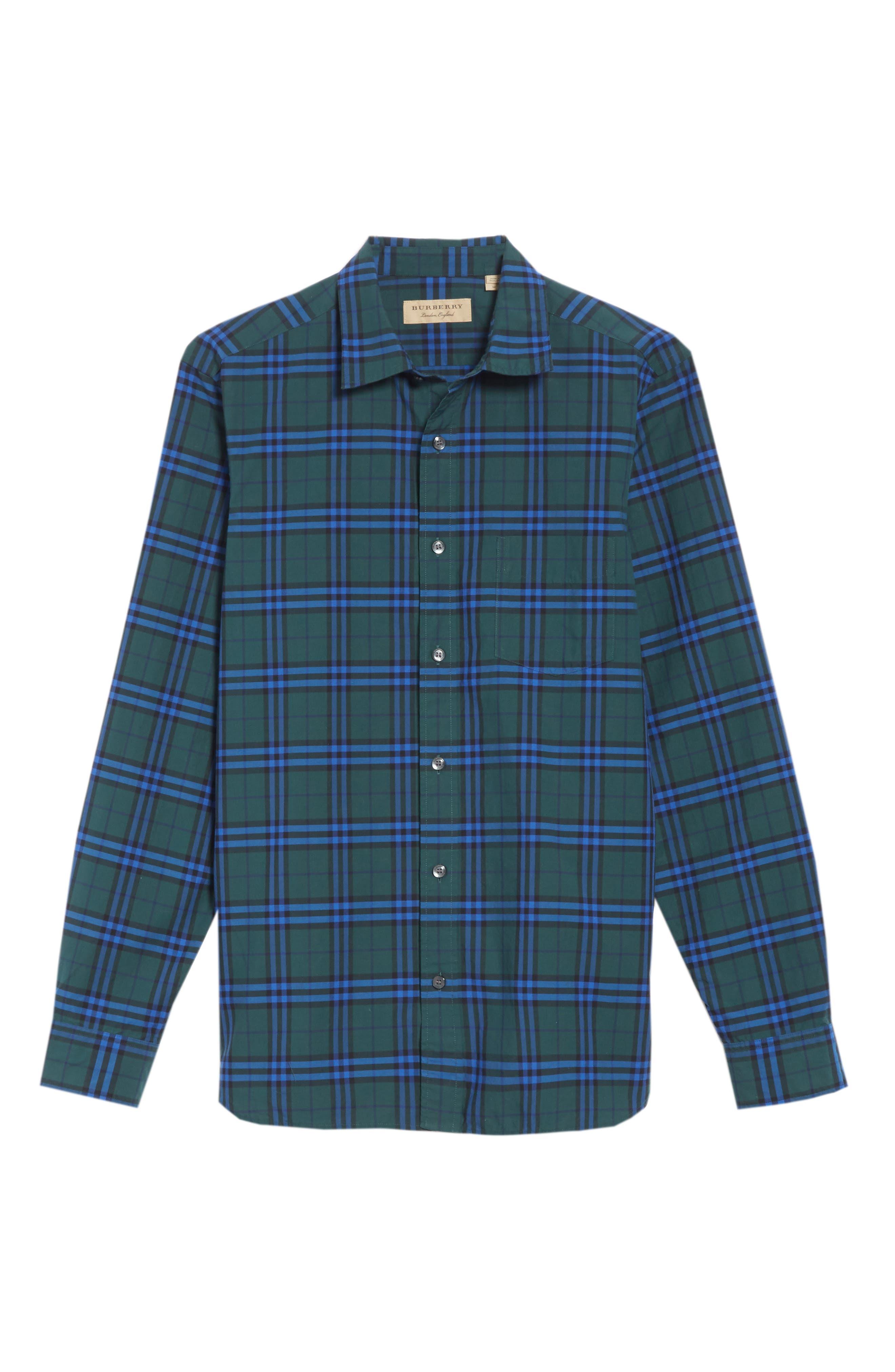 Alexander Check Sport Shirt,                             Alternate thumbnail 6, color,                             341