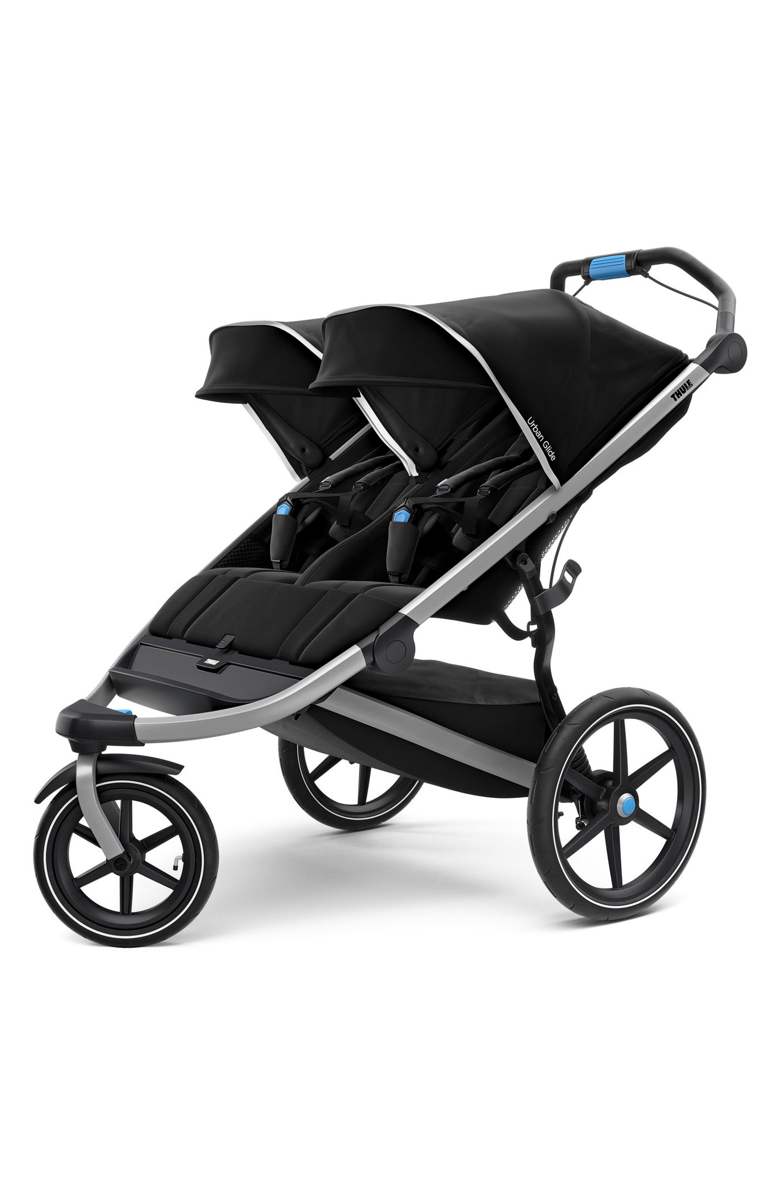 Urban Glide 2 Double Jogging Stroller,                         Main,                         color, BLACK/ SILVER FRAME