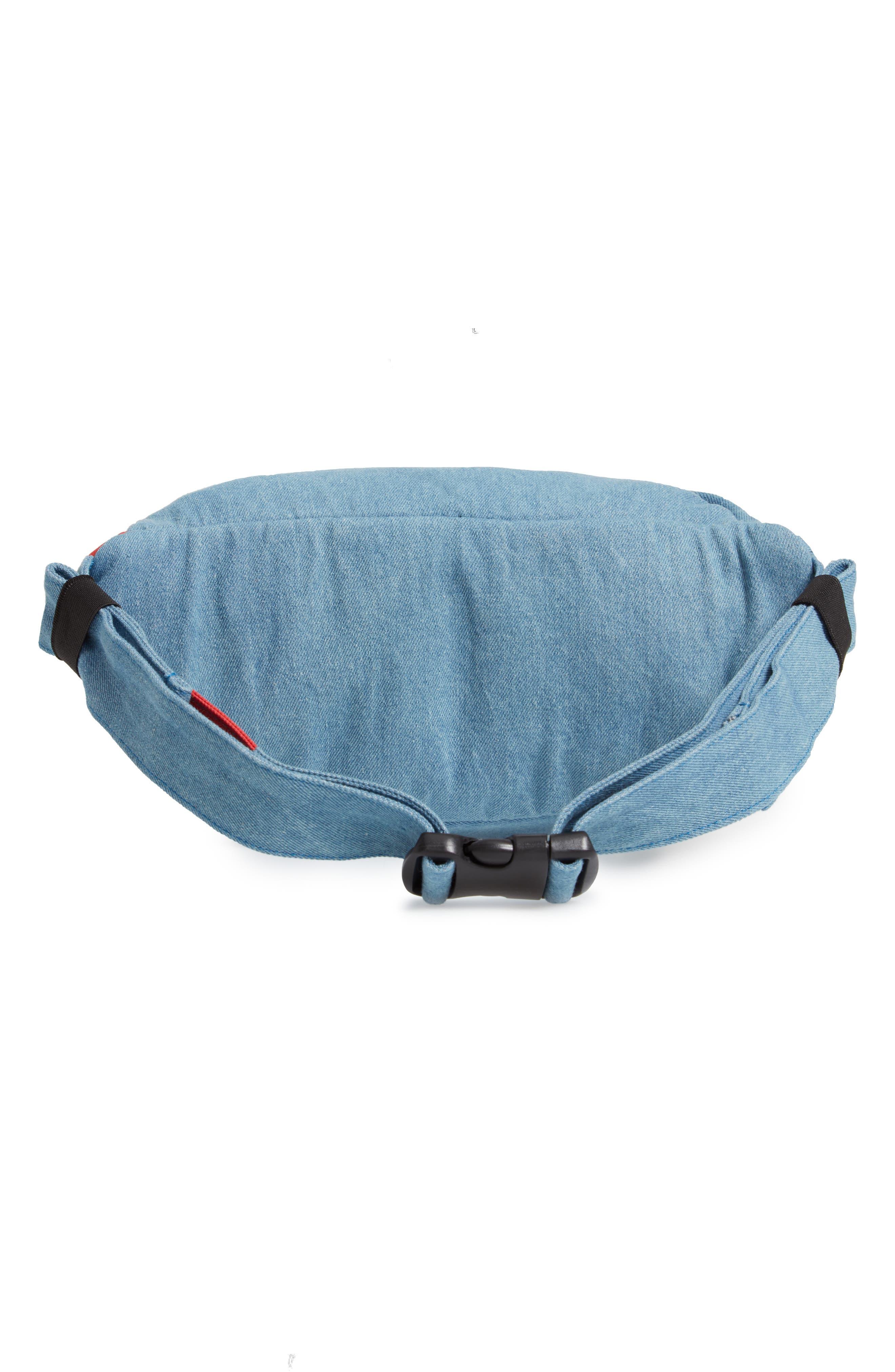 WESC,                             Usher Colorblock Denim Belt Bag,                             Alternate thumbnail 4, color,                             CERULEAN BLUE