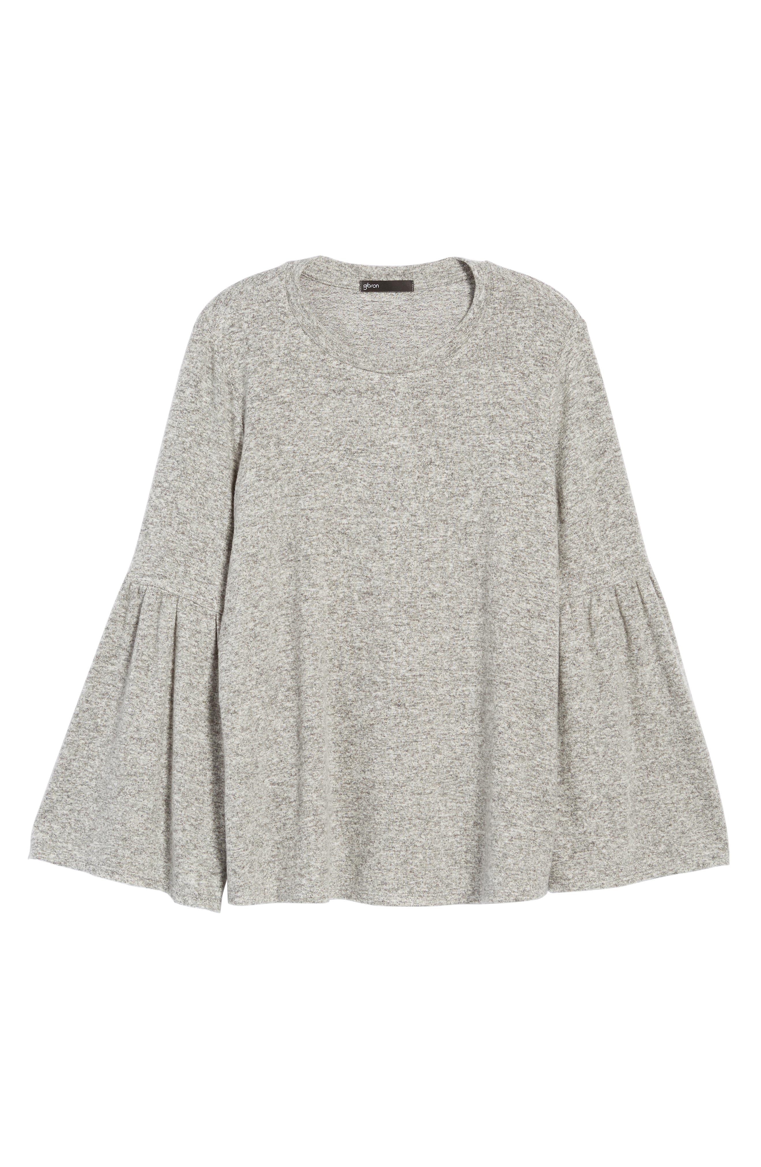 Bell Sleeve Cozy Fleece Pullover,                             Alternate thumbnail 67, color,
