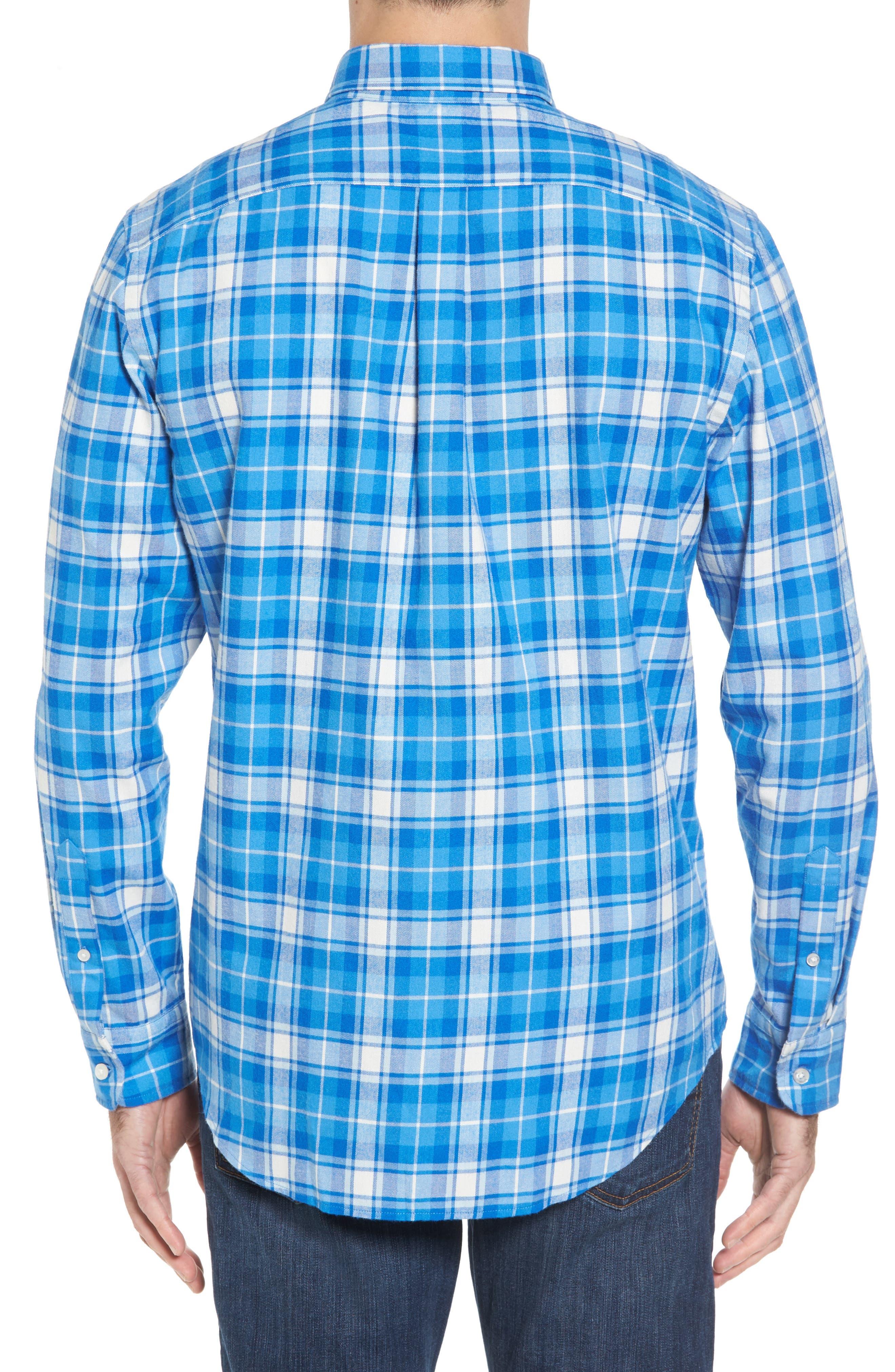 Tucker Lone Point Classic Fit Plaid Sport Shirt,                             Alternate thumbnail 2, color,                             400