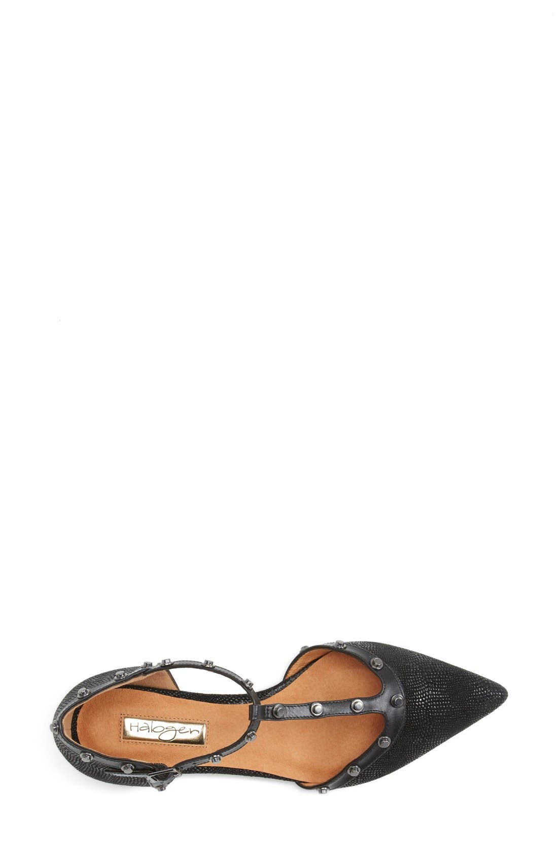 'Olson' Pointy Toe Studded T-Strap Flat,                             Alternate thumbnail 55, color,