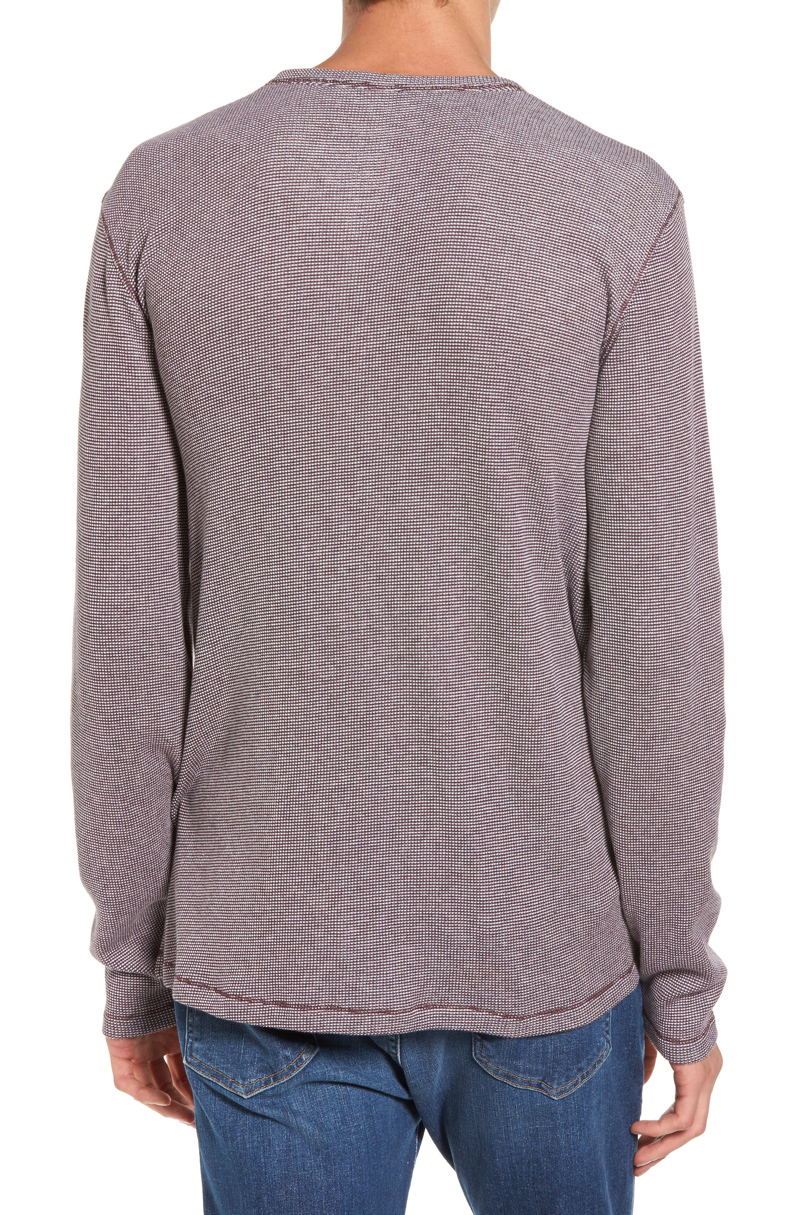 Waffle Knit Henley,                             Alternate thumbnail 4, color,