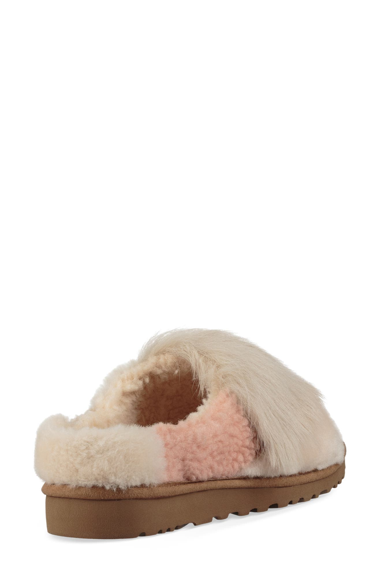Patchwork Fluff Slipper,                             Alternate thumbnail 2, color,                             CHESTNUT