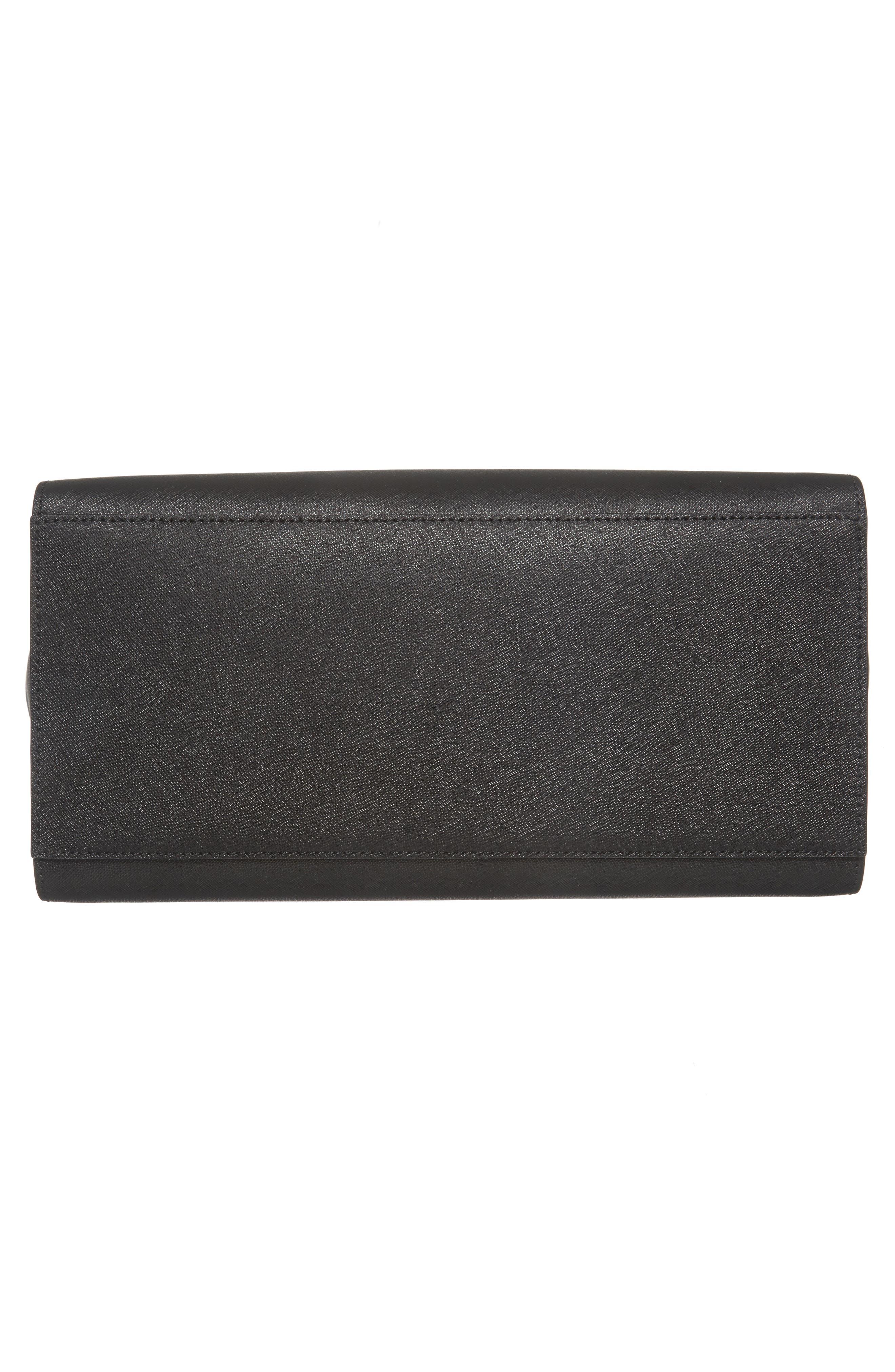 make it mine - candace leather satchel,                             Alternate thumbnail 6, color,                             001