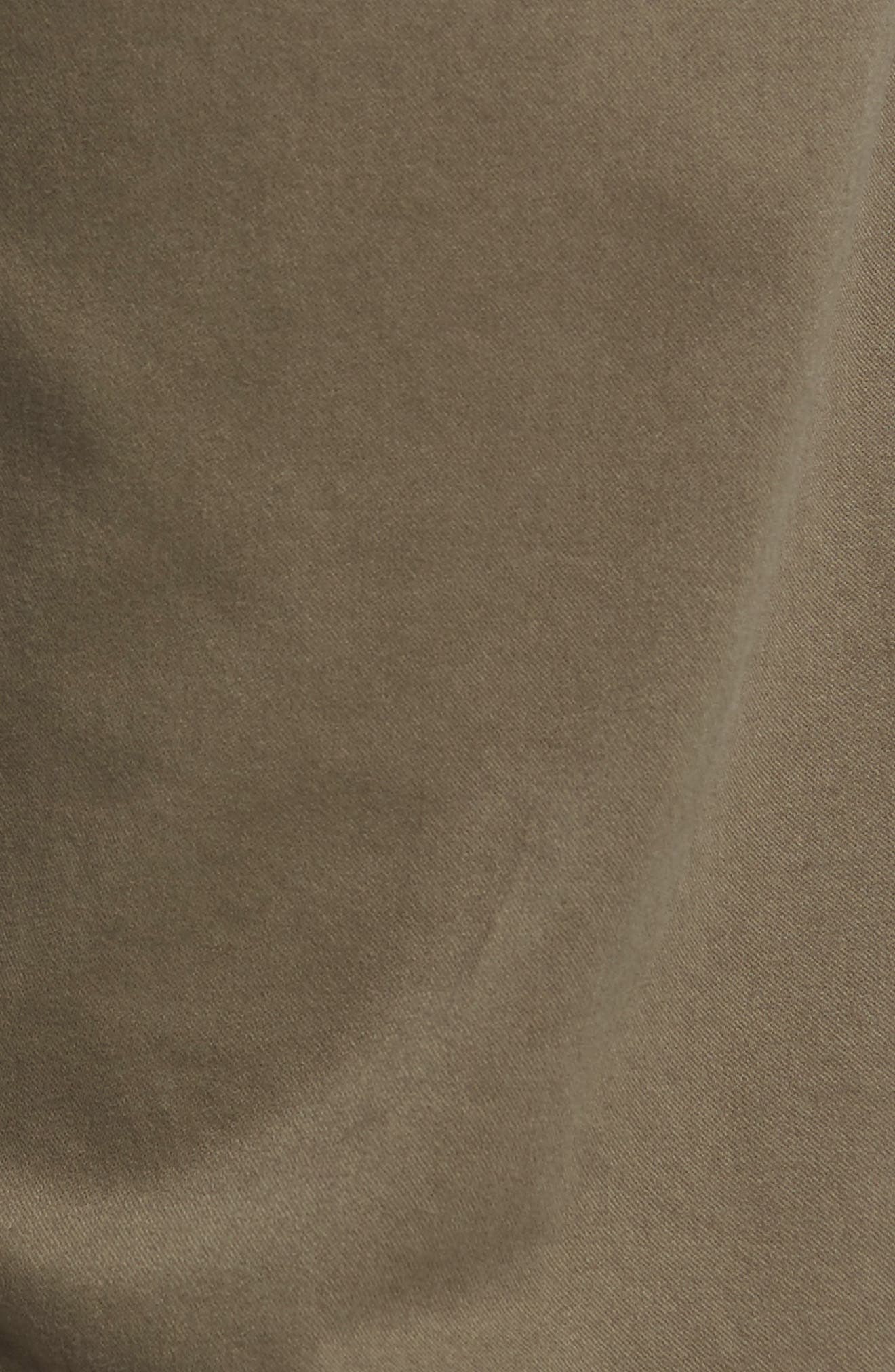 Zach Straight Fit Twill Pants,                             Alternate thumbnail 5, color,                             DUSTY OLIVE TWILL