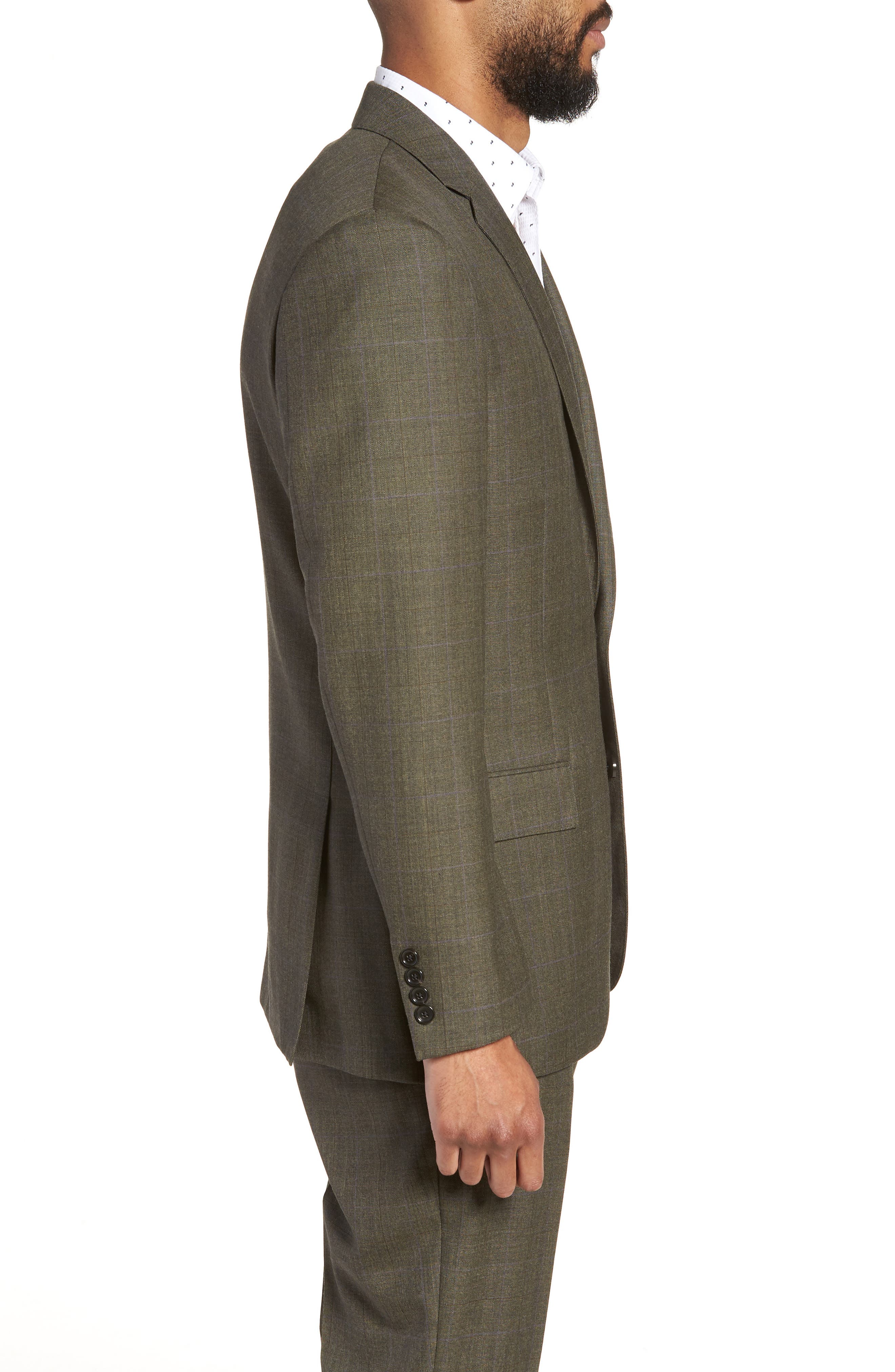 Ludlow Trim Fit Herringbone Wool Sport Coat,                             Alternate thumbnail 3, color,                             301