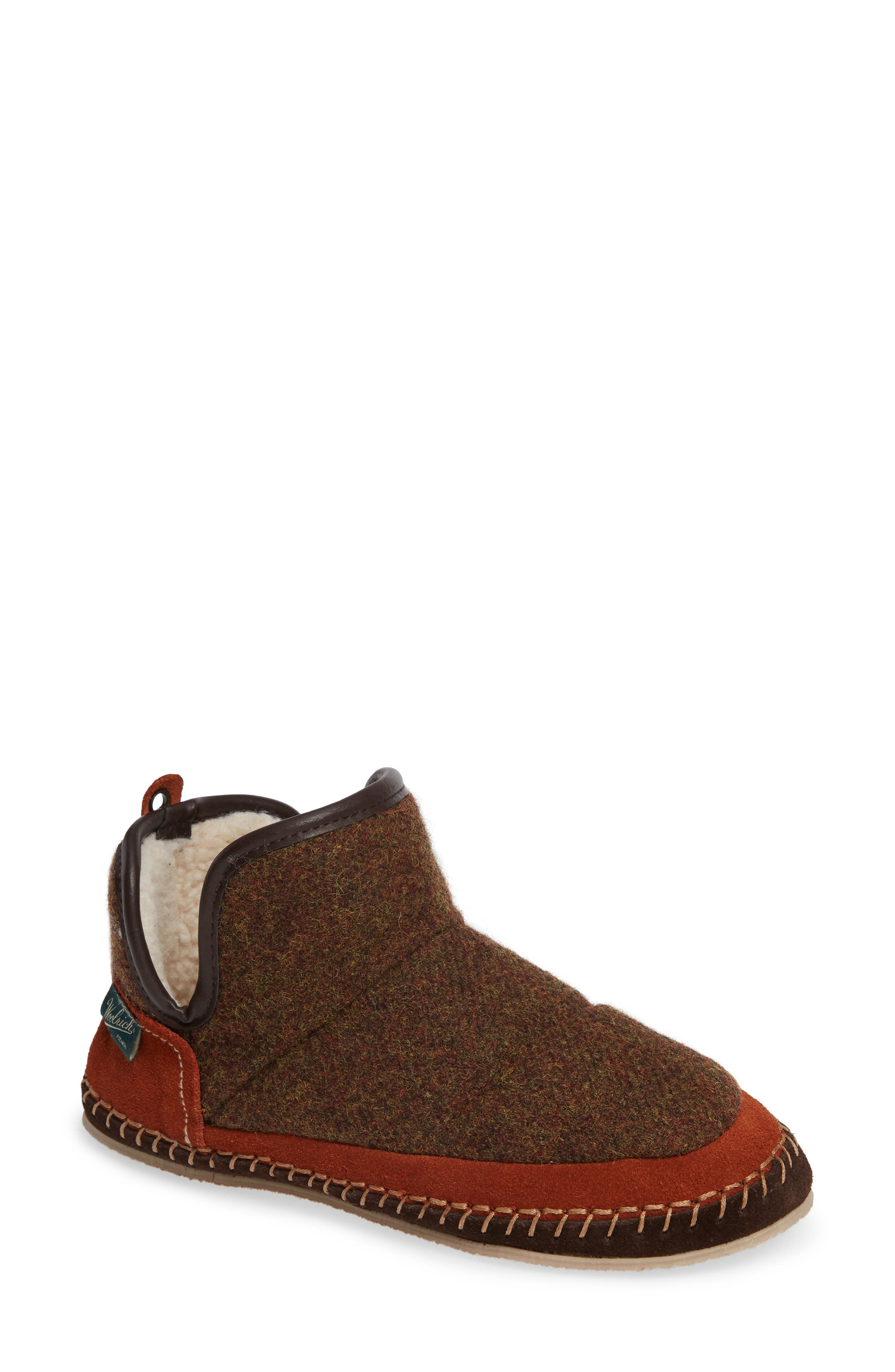 WOOLRICH,                             Glamper Slipper Bootie,                             Main thumbnail 1, color,                             SPICED CIDER WOOL
