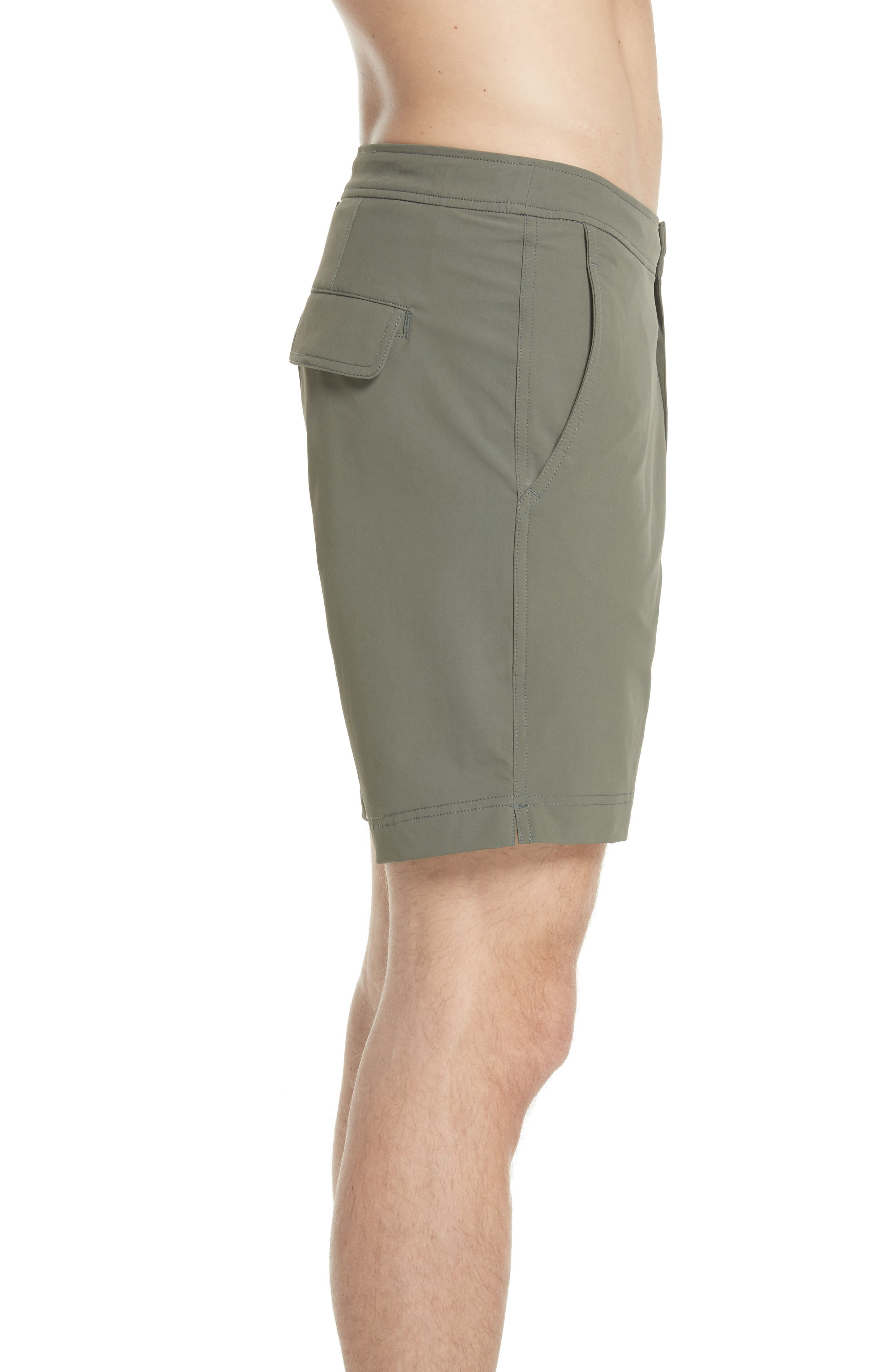 Calder Swim Trunks,                             Alternate thumbnail 3, color,                             DEEP SAGE