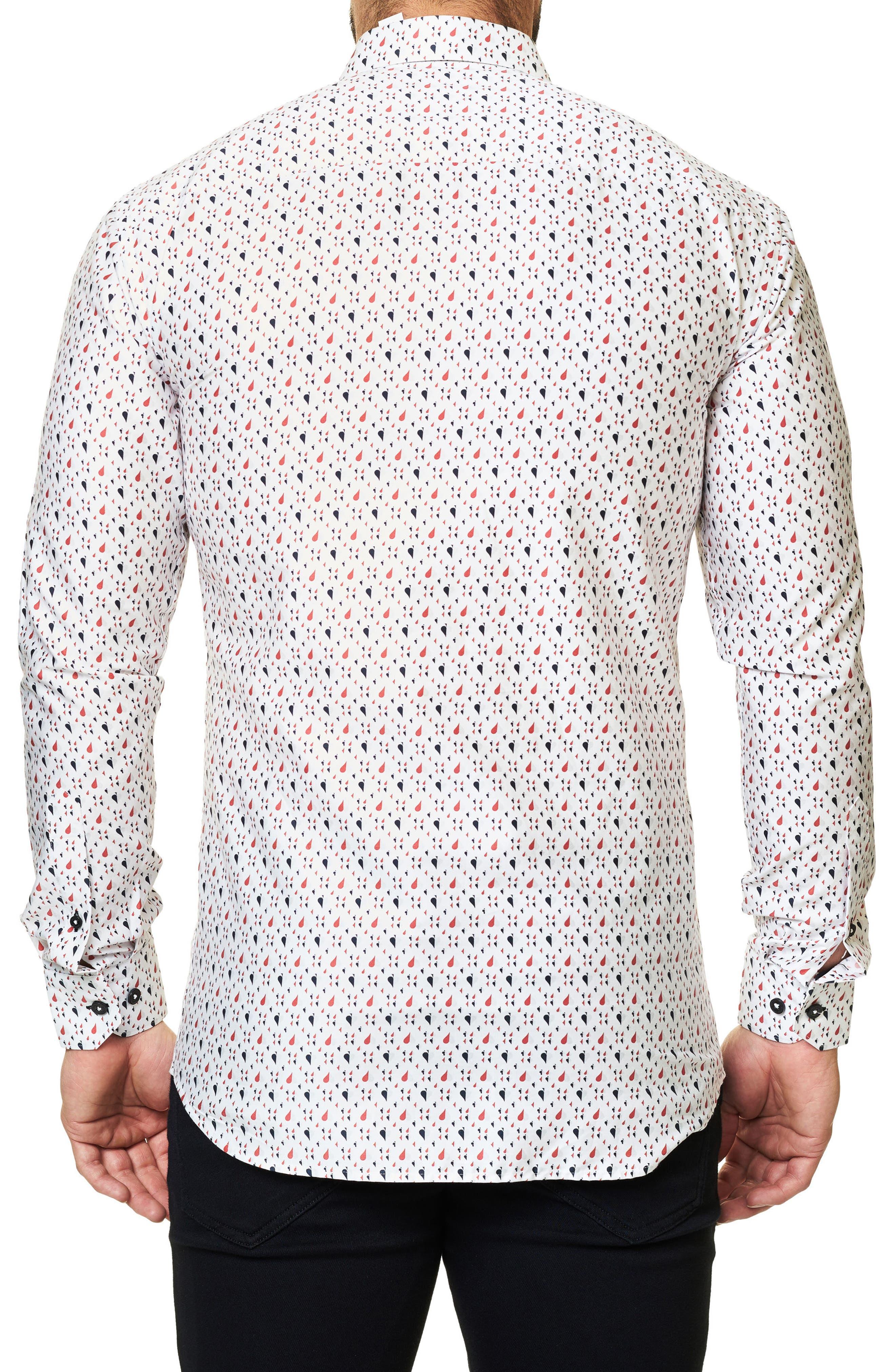 Trim Fit Print Sport Shirt,                             Alternate thumbnail 2, color,                             114