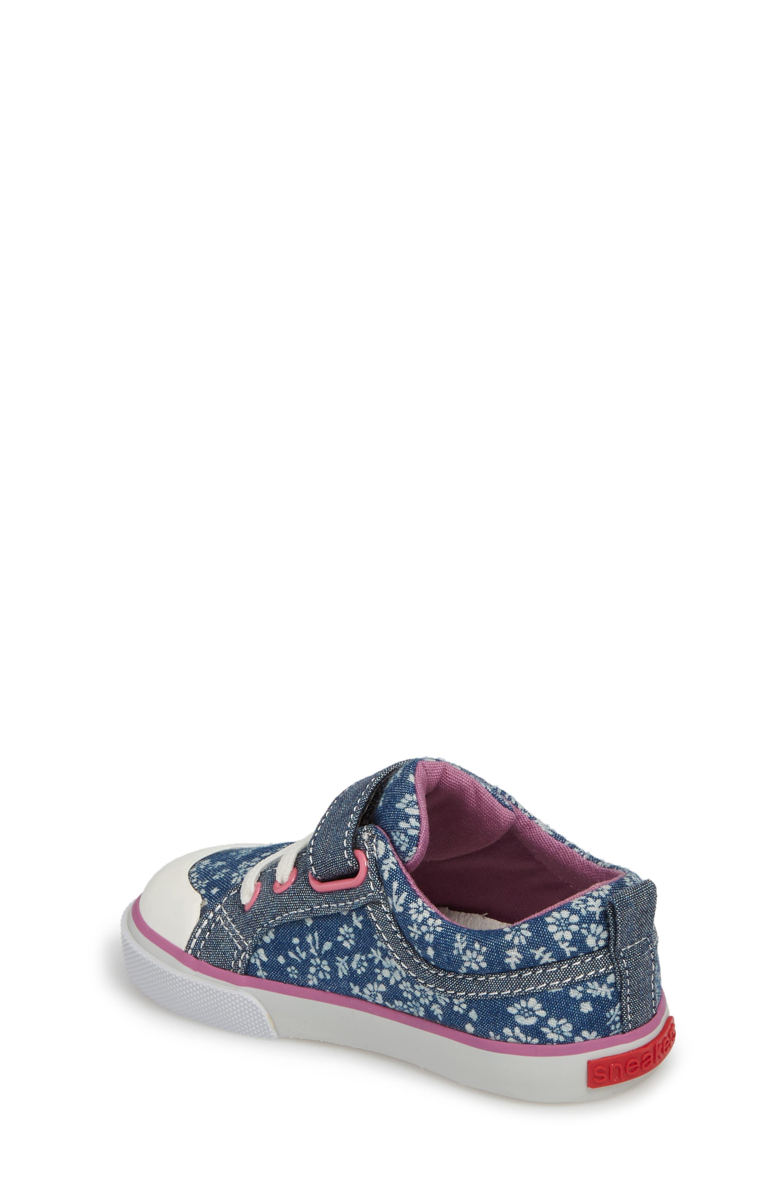 Kristin Sneaker,                             Alternate thumbnail 2, color,                             BLUE FLOWERS