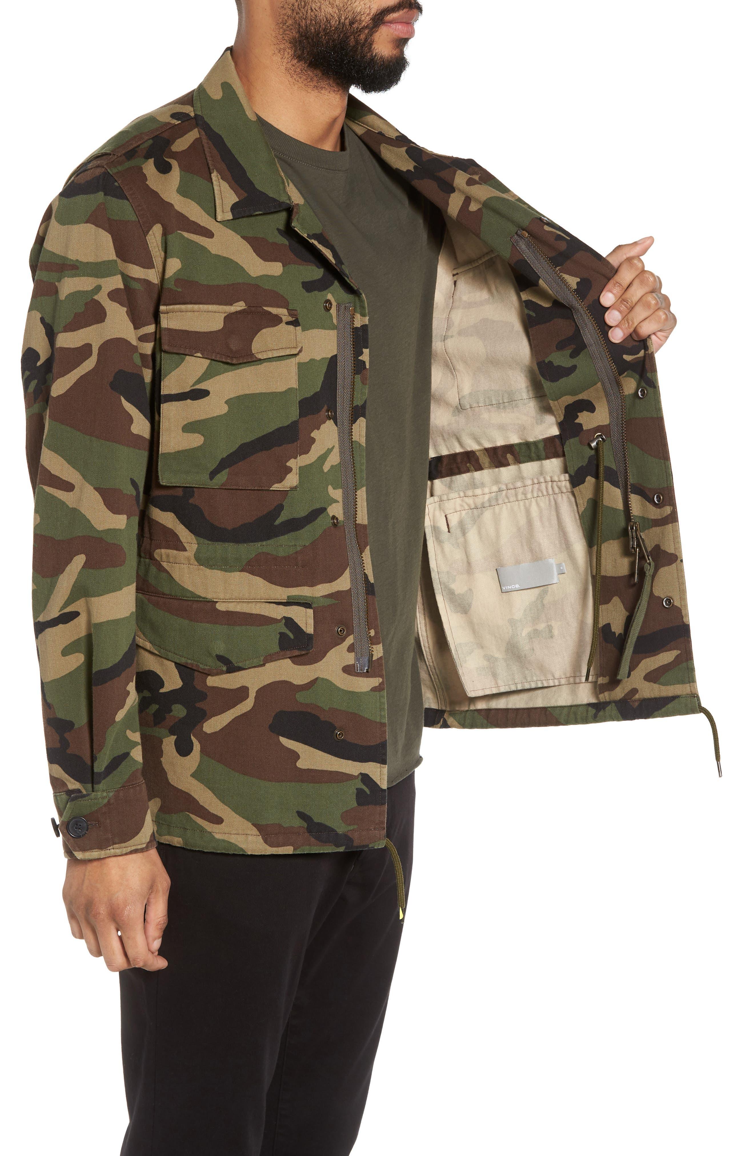 Slim Fit Camo Jacket,                             Alternate thumbnail 3, color,                             300