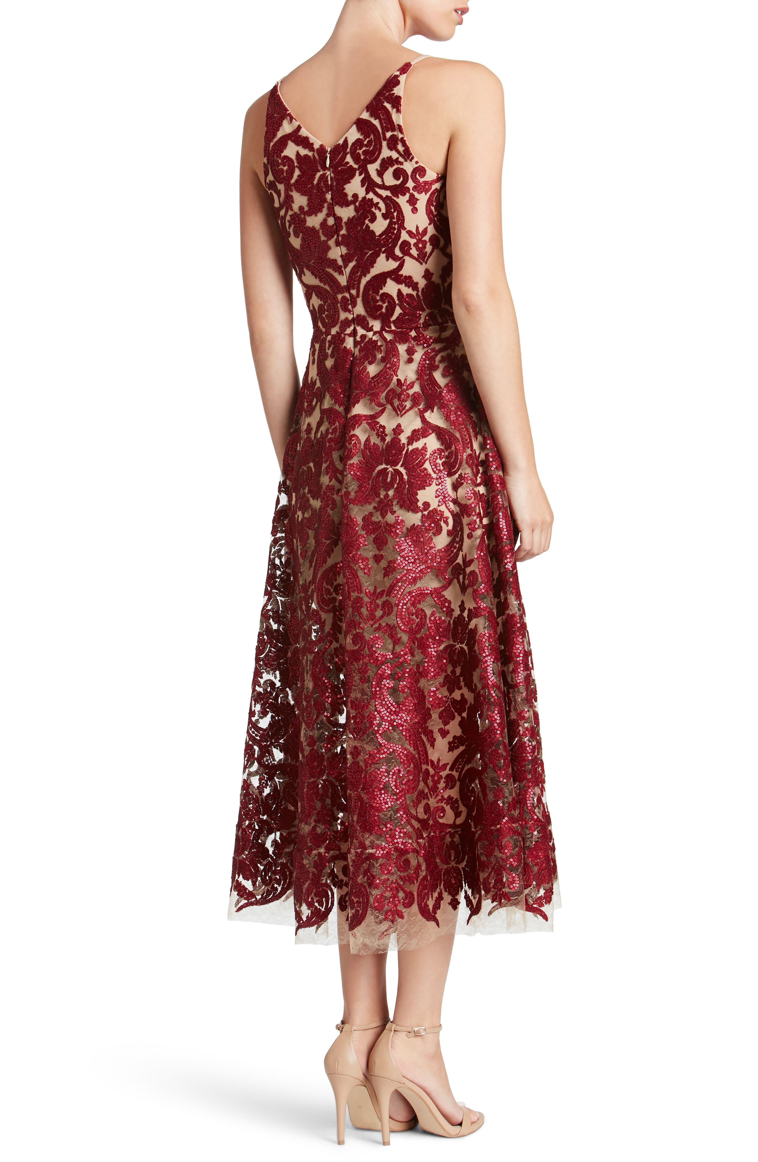 Blair Embellished Fit & Flare Dress,                             Alternate thumbnail 13, color,