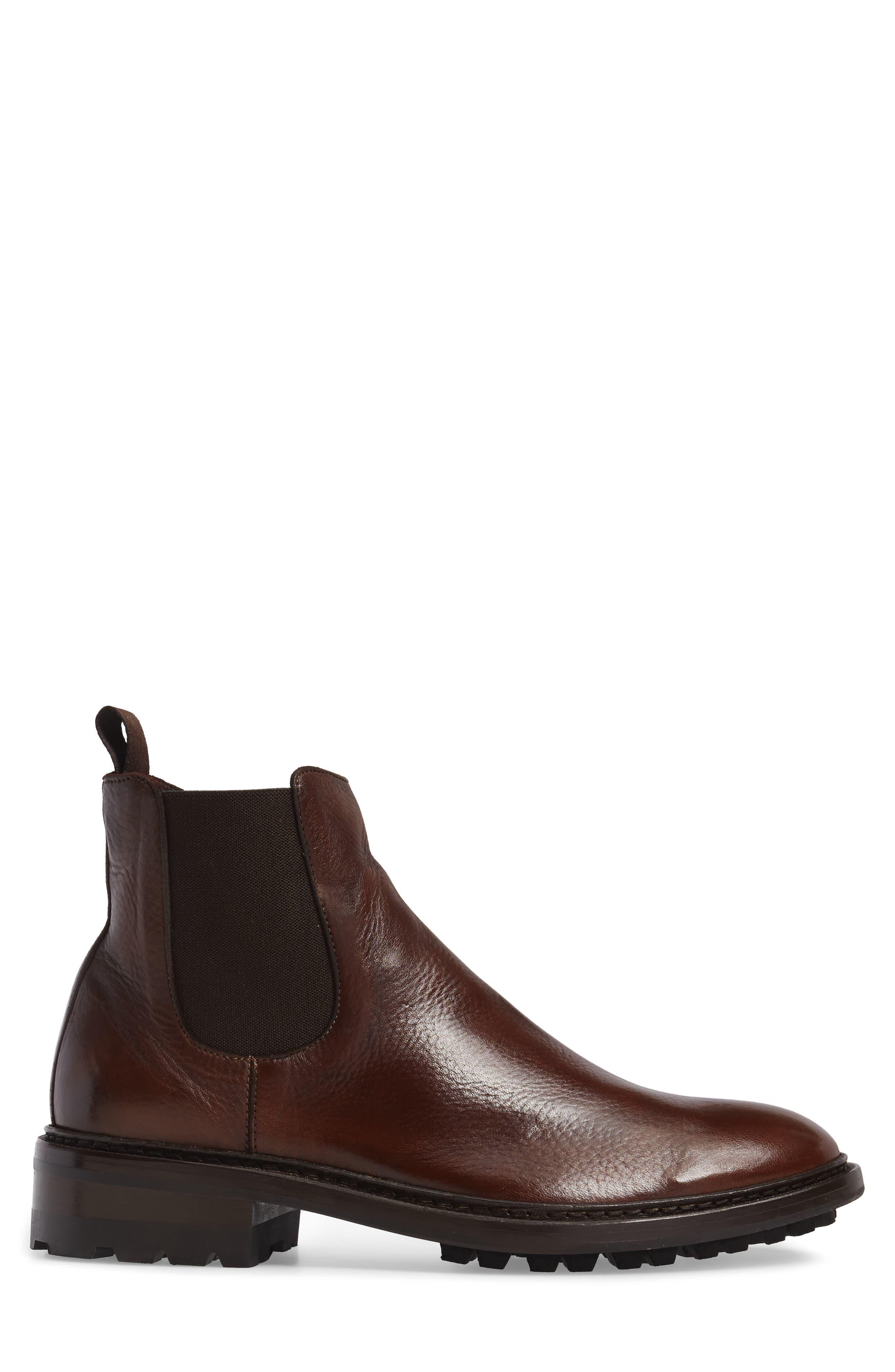 Greyson Chelsea Boot,                             Alternate thumbnail 3, color,                             COGNAC