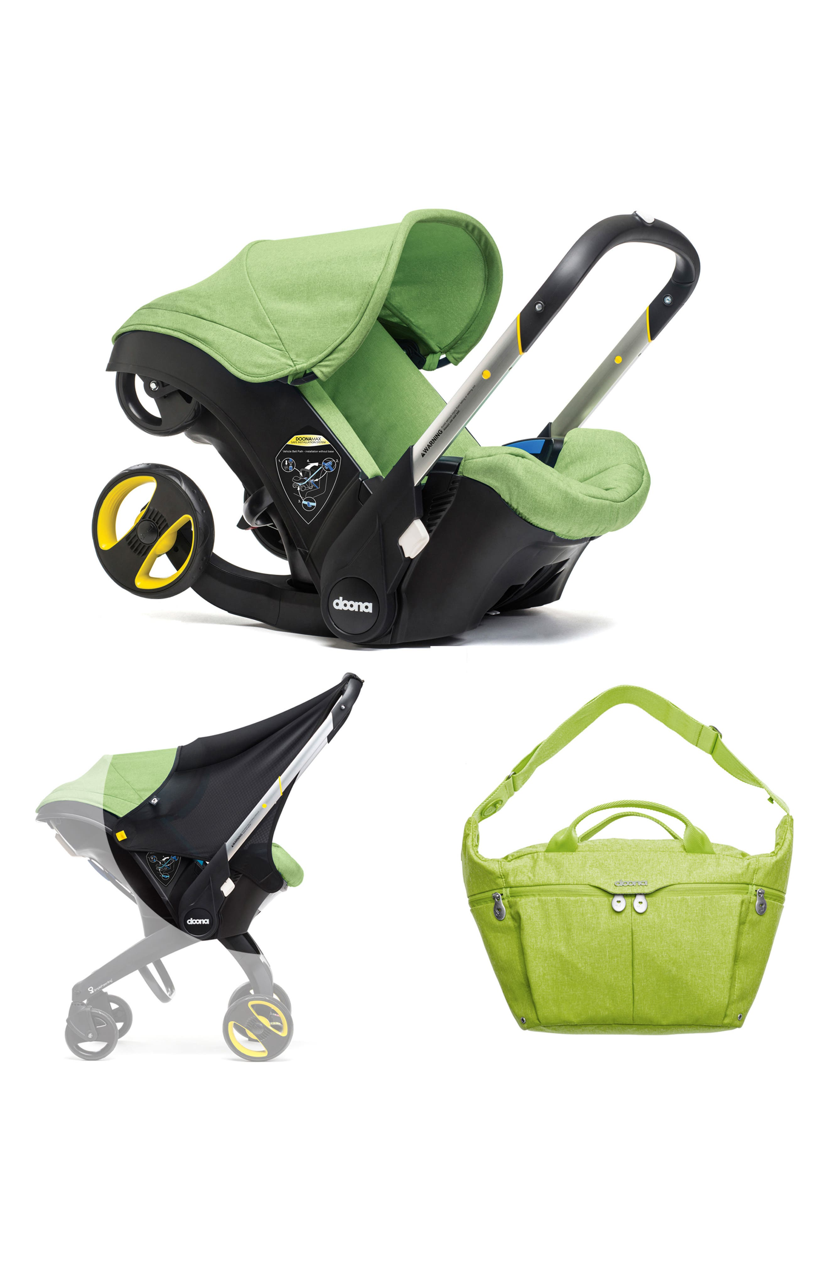 Convertible Infant Car Seat/Compact Stroller System, Sun Shade & All-Day Diaper Bag Bundle,                             Main thumbnail 1, color,                             300