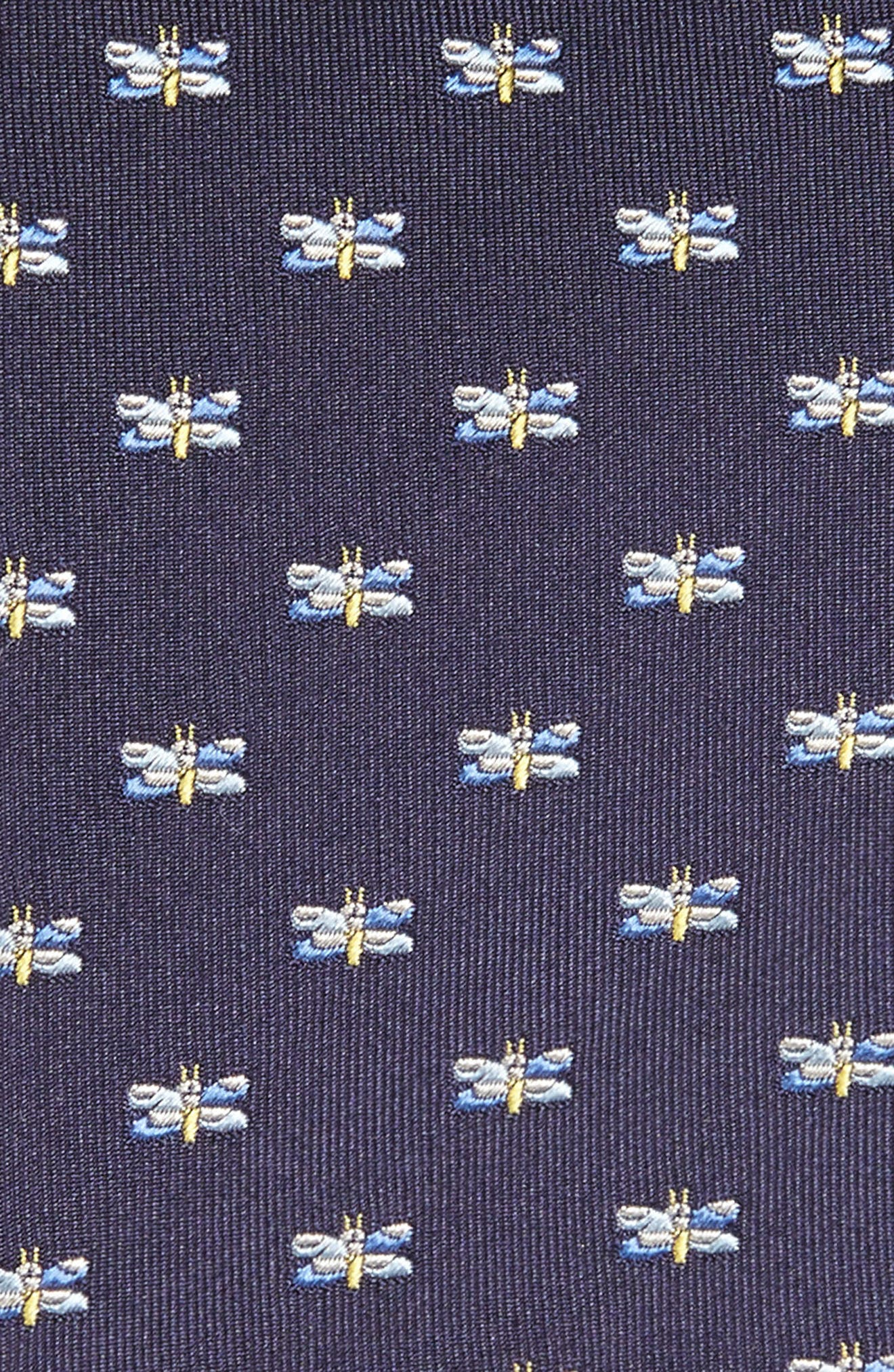 Dragonfly Silk Tie,                             Alternate thumbnail 3, color,