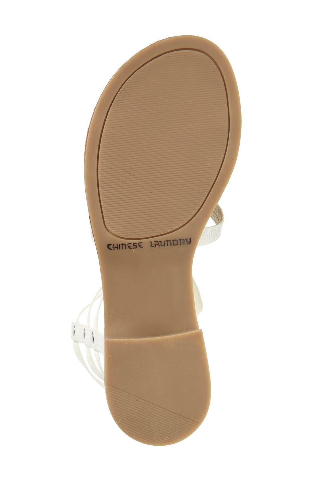 'Gemma' Gladiator Sandal,                             Alternate thumbnail 3, color,                             100
