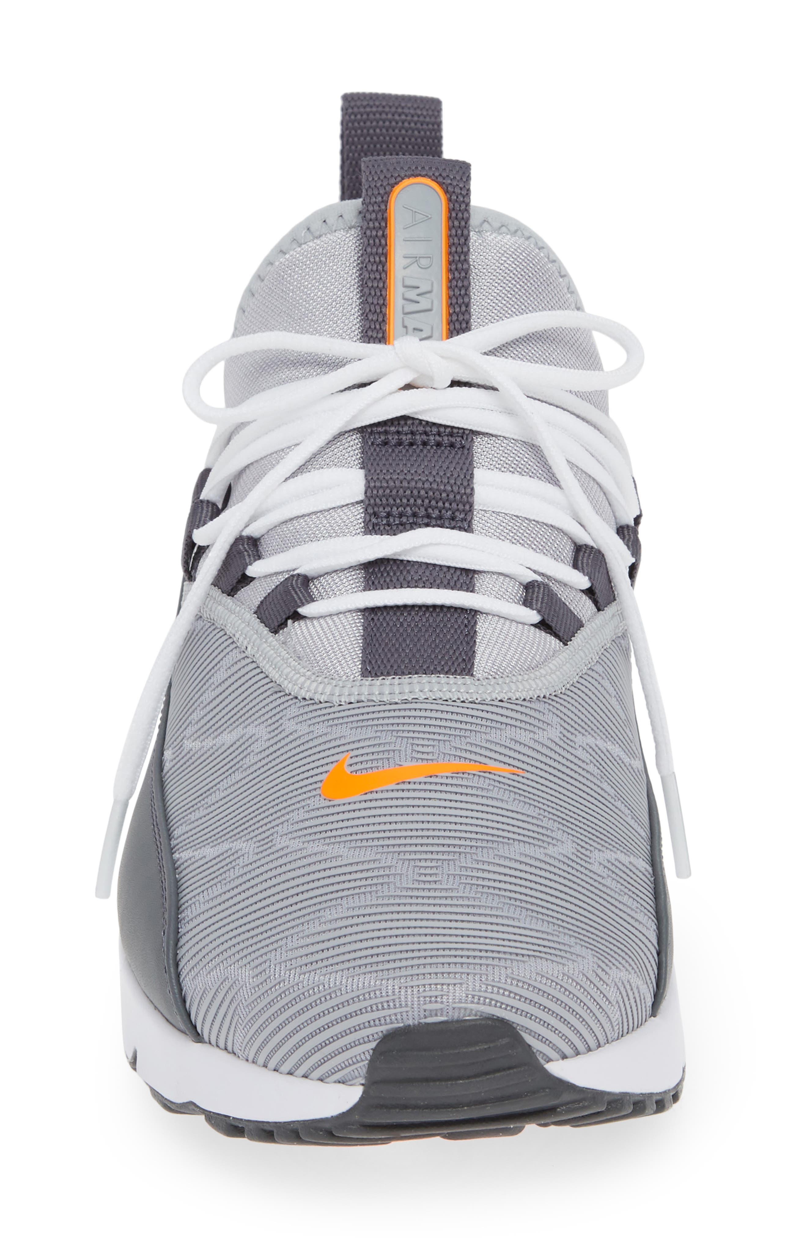 Air Max 90 EZ Sneaker,                             Alternate thumbnail 4, color,                             WOLF GREY/ TOTAL ORANGE/ WHITE