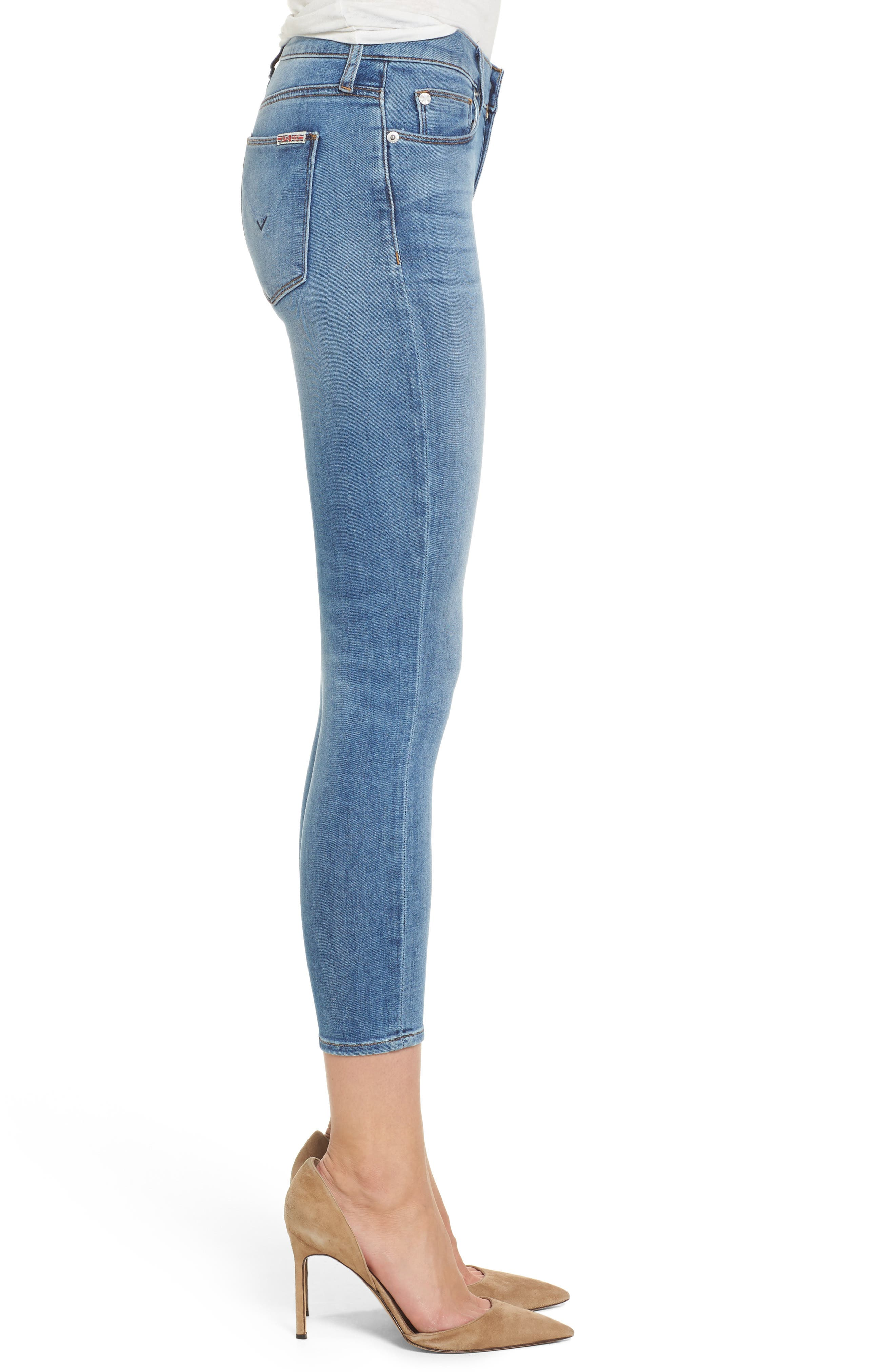 Tally Crop Skinny Jeans,                             Alternate thumbnail 3, color,                             450