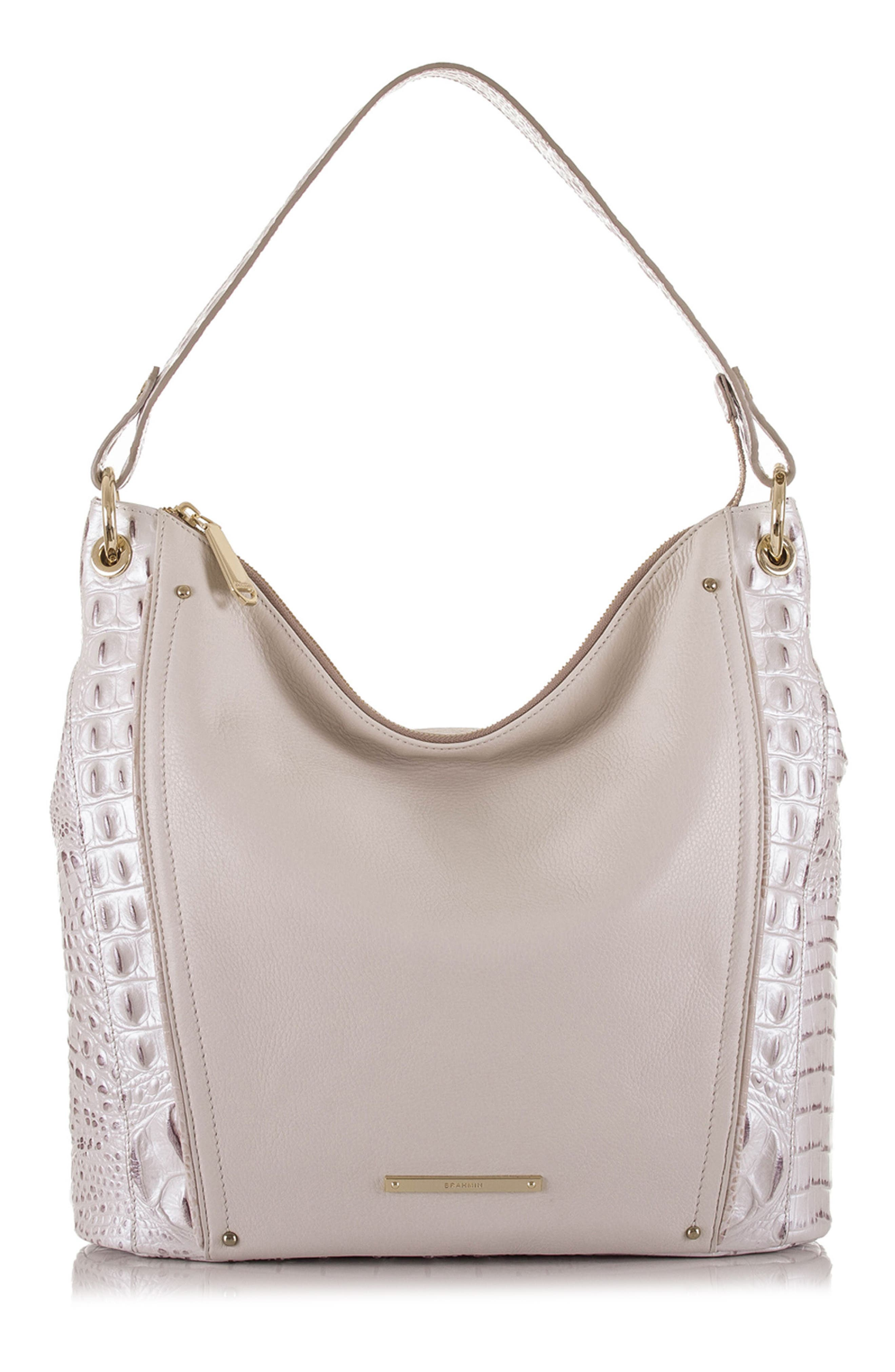 Sevi Leather Hobo,                         Main,                         color, 135