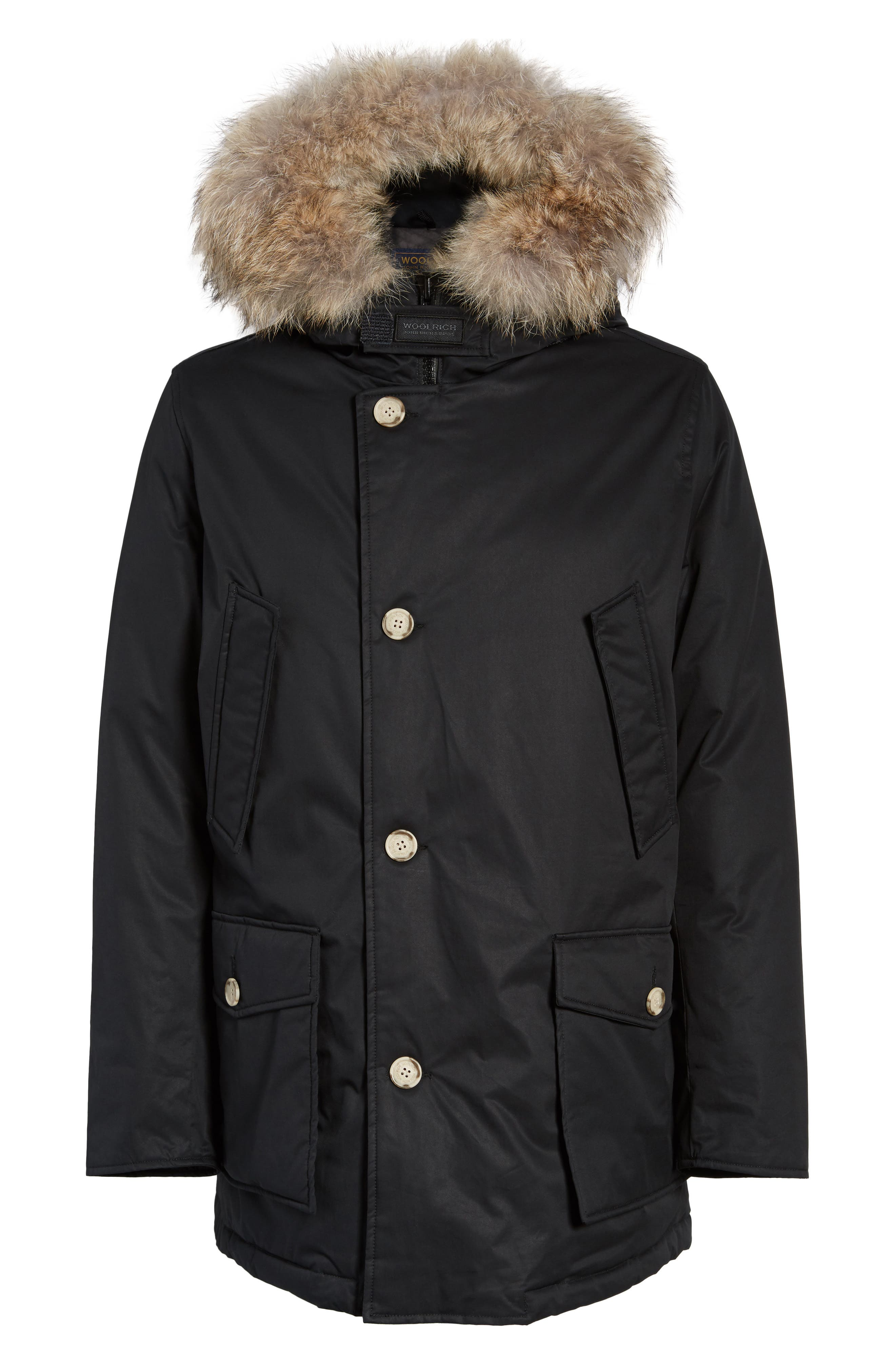 John Rich & Bros. Laminated Cotton Down Parka with Genuine Coyote Fur Trim,                             Alternate thumbnail 9, color,