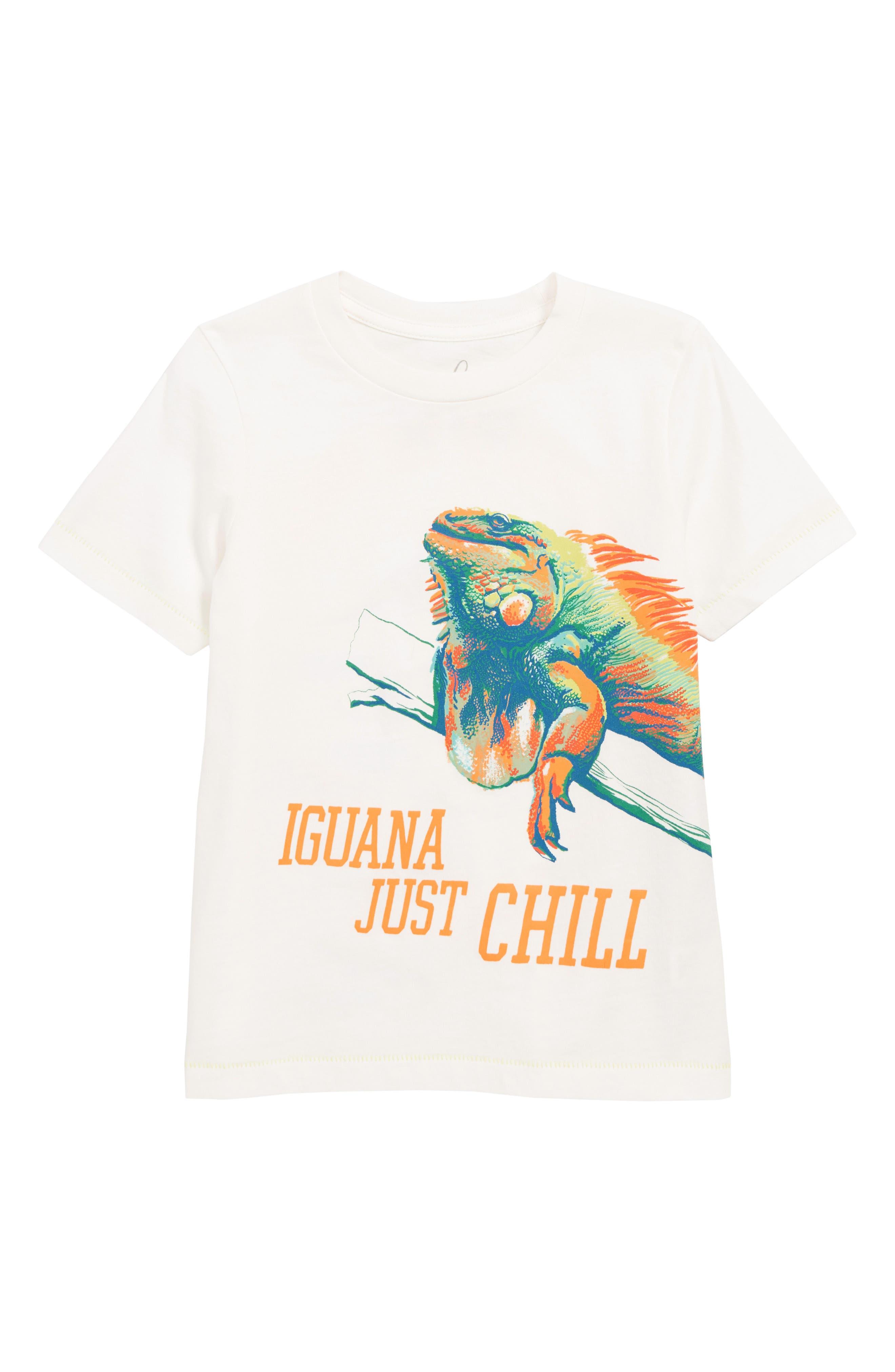 PEEK AREN'T YOU CURIOUS,                             Iguana Chill T-Shirt,                             Main thumbnail 1, color,                             IVORY