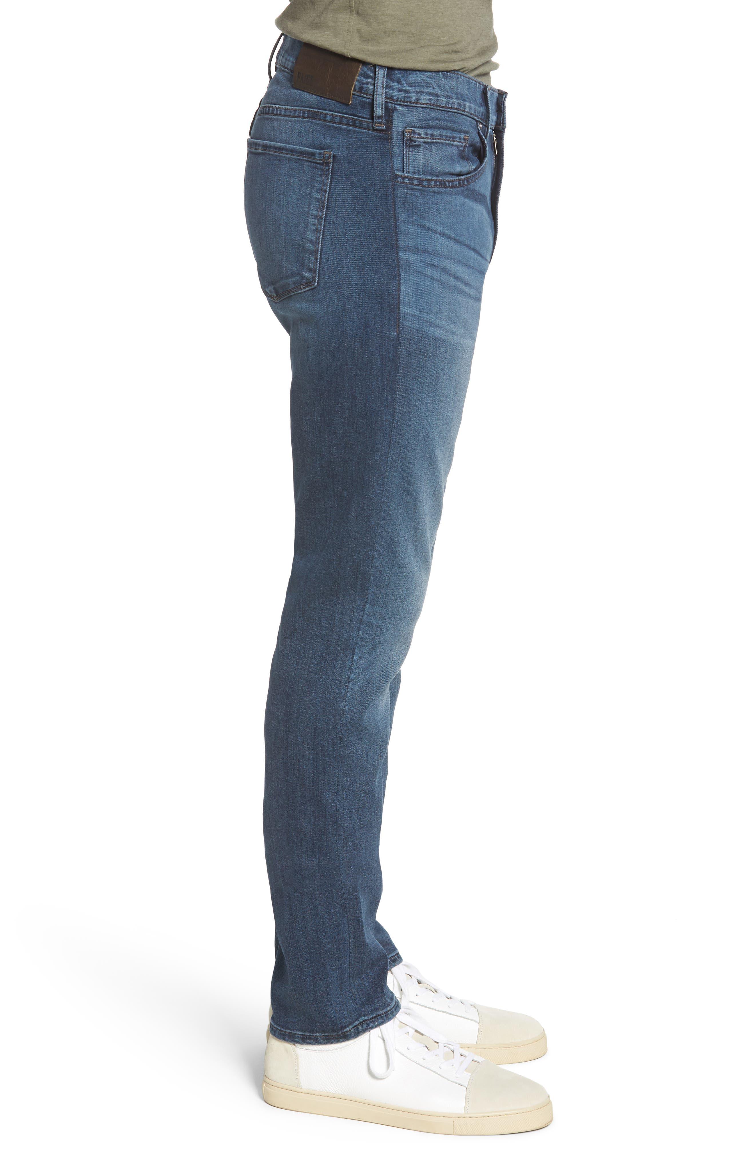 Transcend - Lennox Slim Fit Jeans,                             Alternate thumbnail 3, color,                             GRAMMERCY