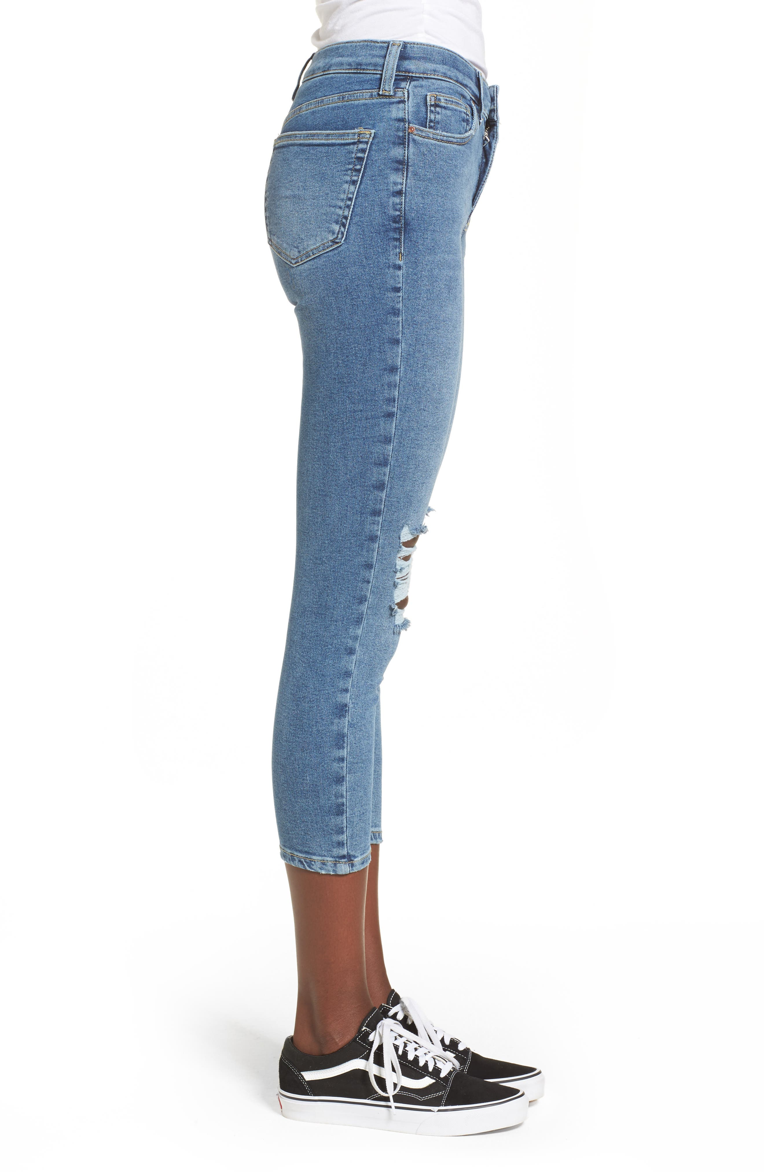 Jamie High Waist Skinny Jeans,                             Alternate thumbnail 3, color,