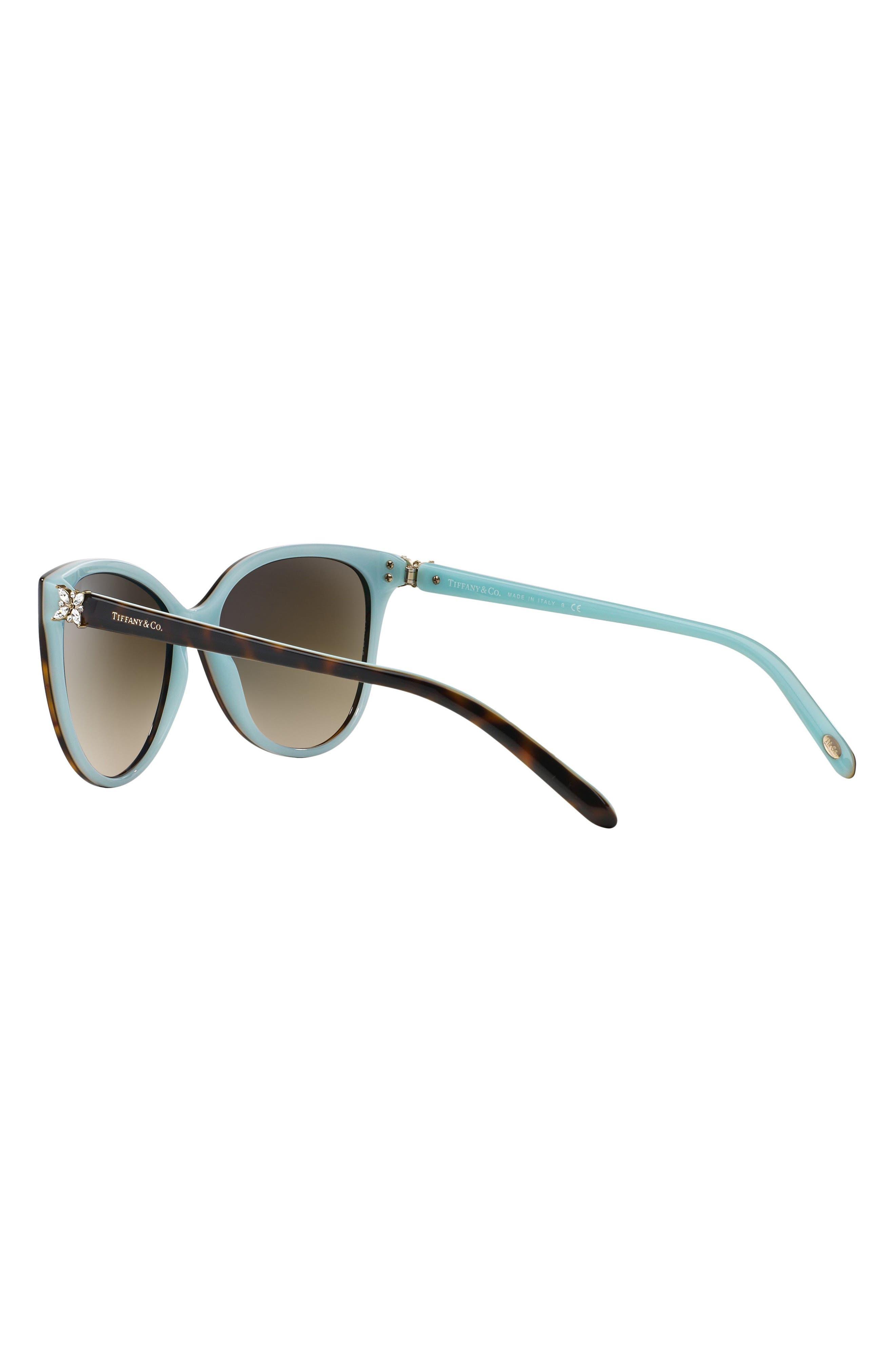 58mm Gradient Cat Eye Sunglasses,                             Alternate thumbnail 3, color,
