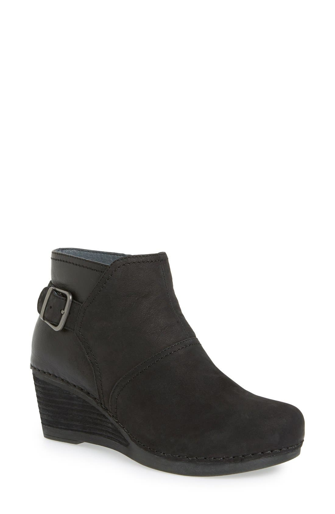 'Shirley' Wedge Bootie,                             Main thumbnail 1, color,                             001
