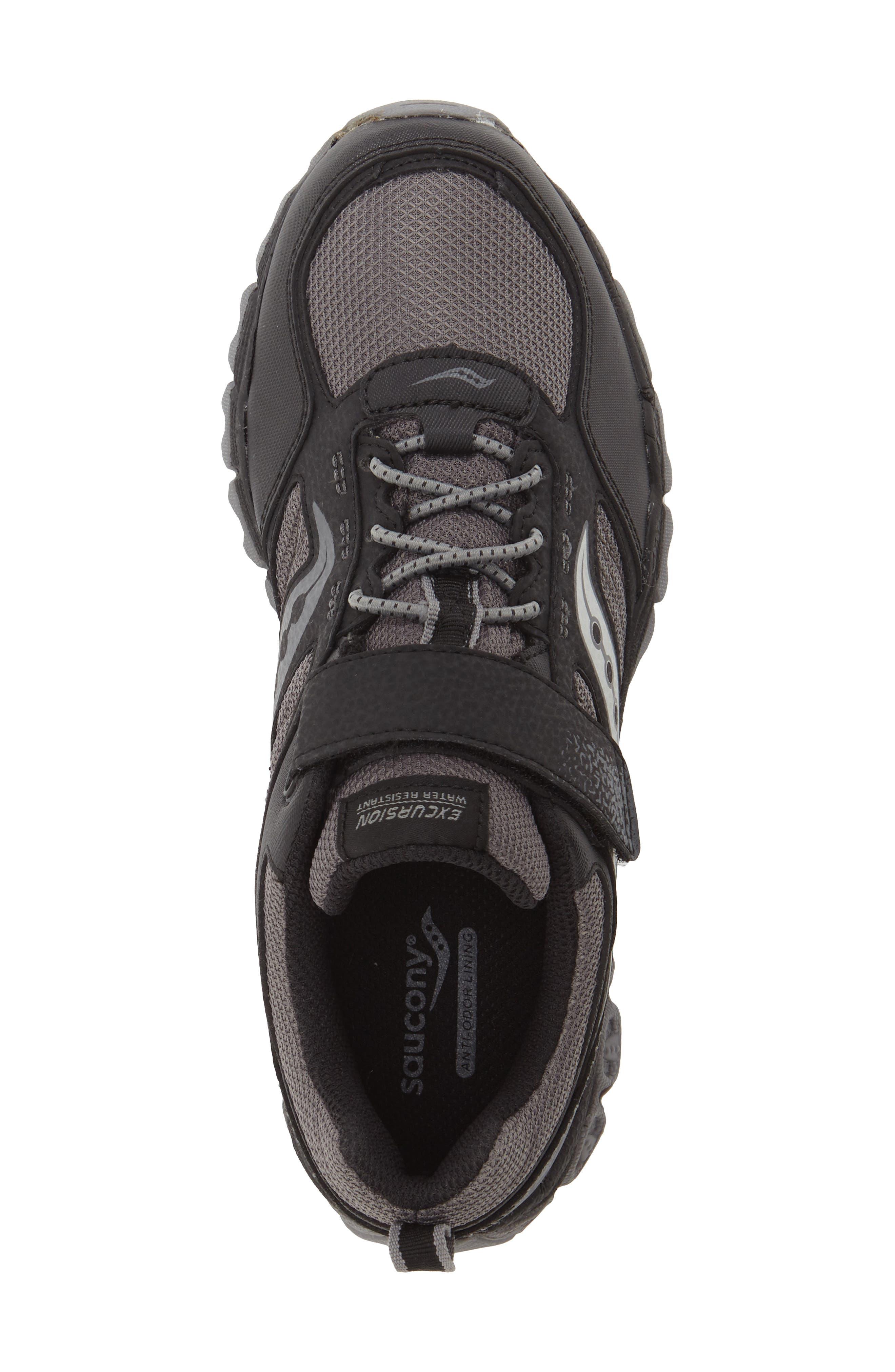 'Excursion Shield' Water Resistant Trail Shoe,                             Alternate thumbnail 4, color,                             001