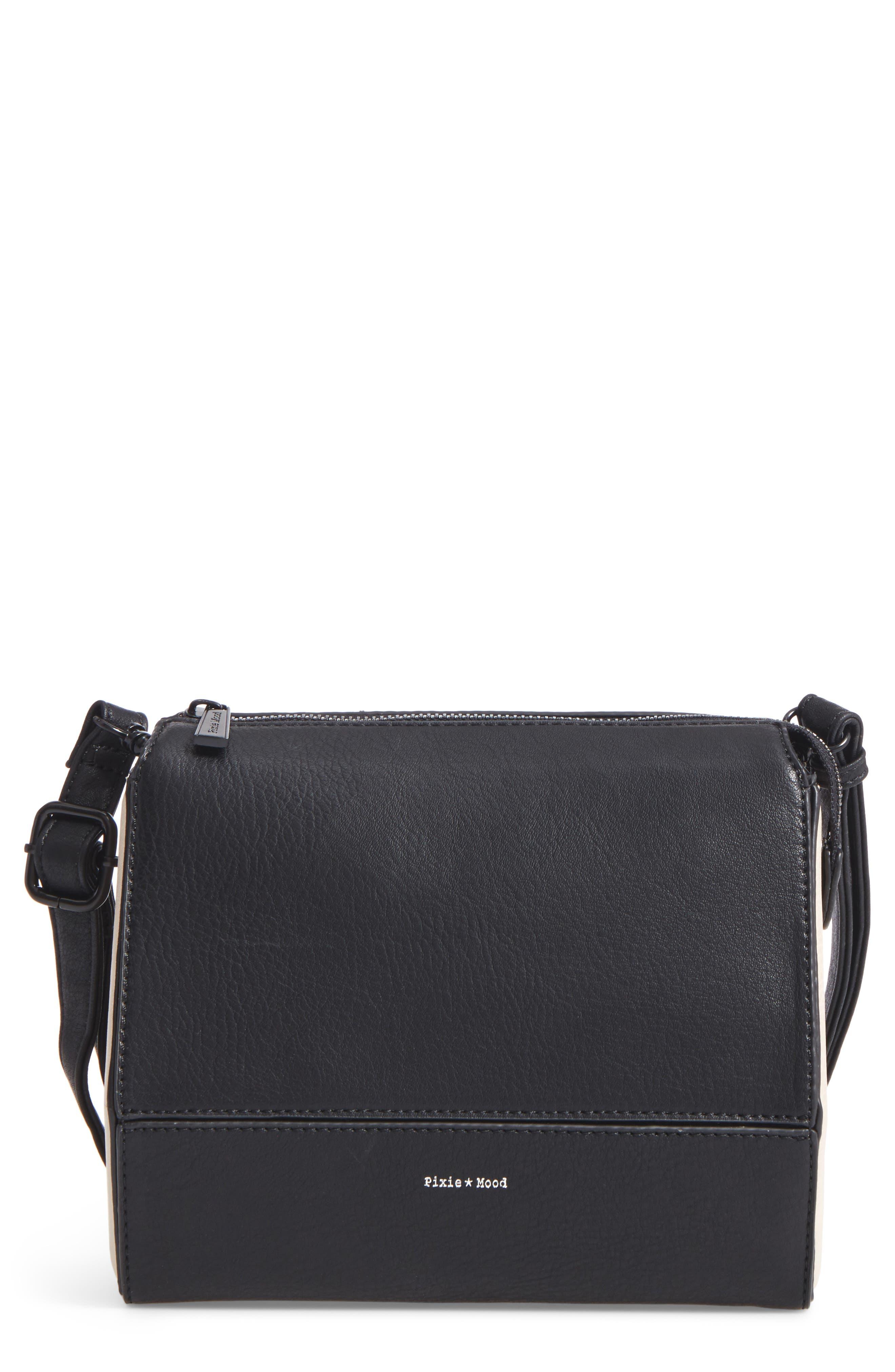 Faux Leather Crossbody Bag,                             Main thumbnail 1, color,                             001